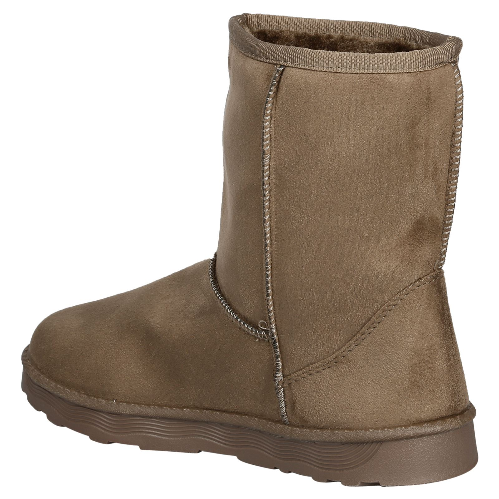 Paisleigh-Womens-Platfrom-Flat-Fur-Lined-Pull-On-Snug-Snow-Boots-Casual-Ladies thumbnail 16