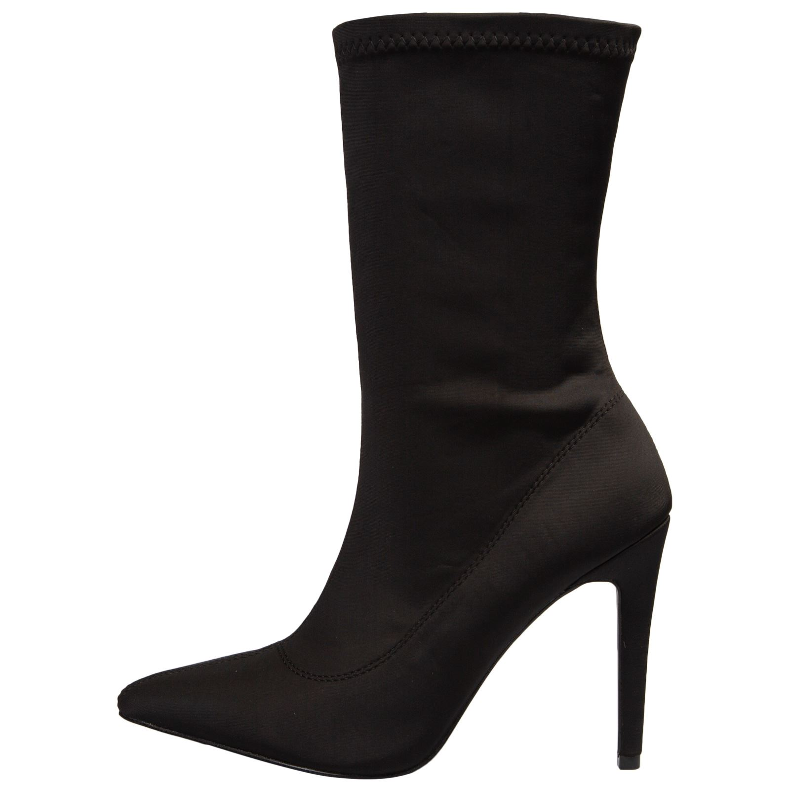 NEW-WOMENS-SHOES-LADIES-ANKLE-BOOTS-ZIP-UP-STRETCH-CALF-STILETTO-FASHION-CASUAL thumbnail 4