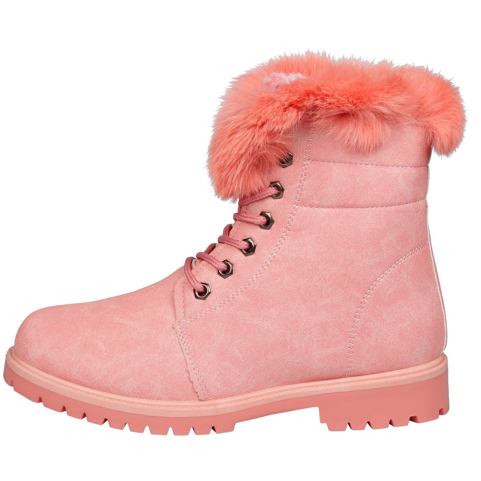 NEW-WOMEN-SHOES-LADIES-FUR-LINED-LOW-HEEL-LACE-UP-ANKLE-BOOTS-CASUAL-STYLE-SIZE thumbnail 16