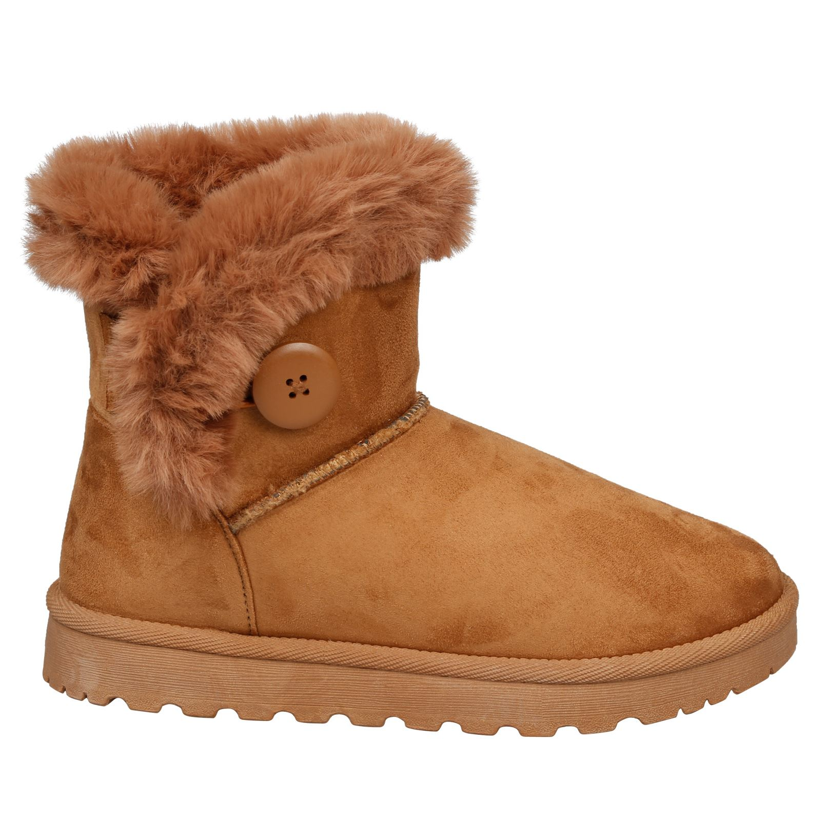 Eliana-Womens-Flatform-Fur-Lined-Flat-Snow-Ankle-Boots-Casual-Ladies-Size-Style thumbnail 7