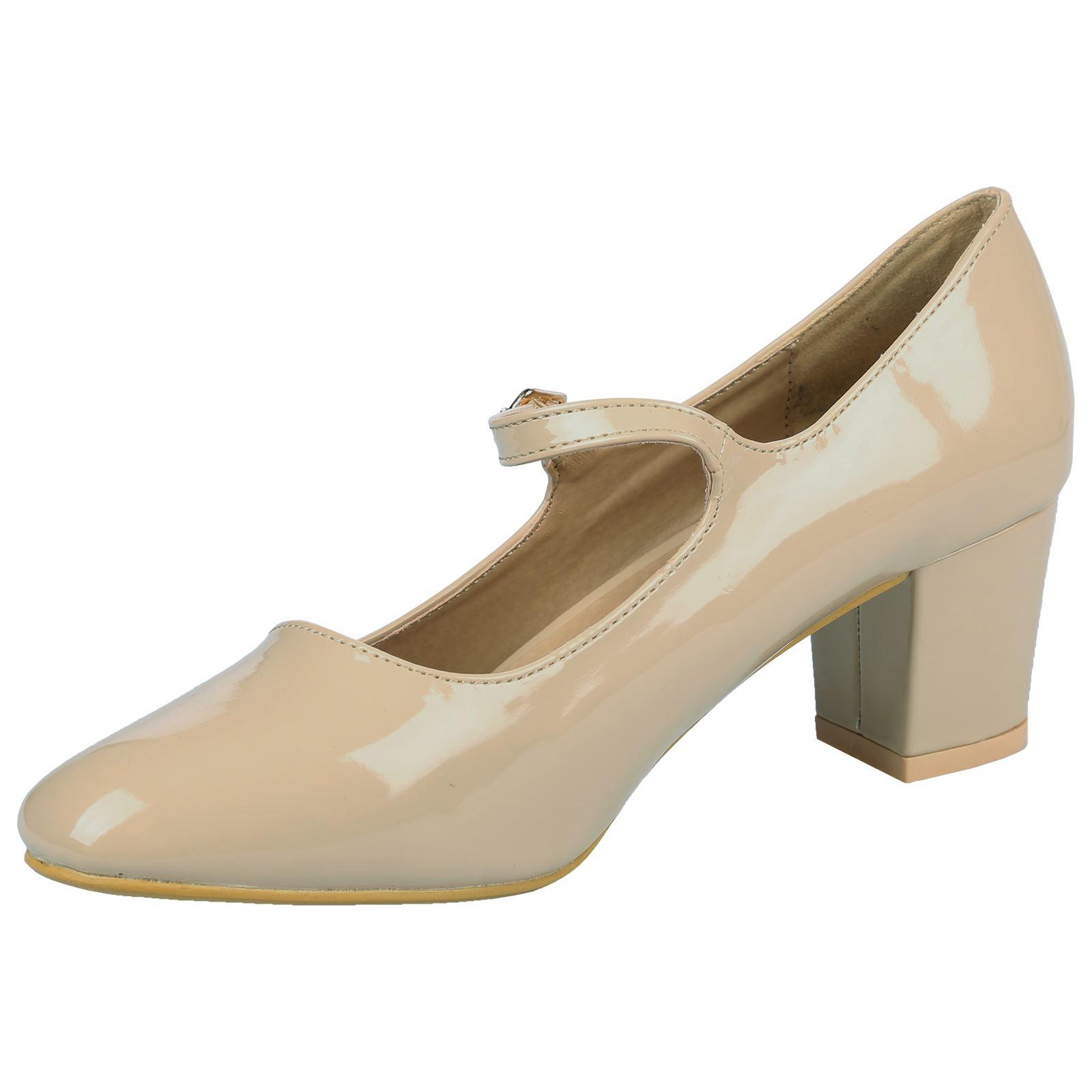 Ladies Smart Black Court Shoe