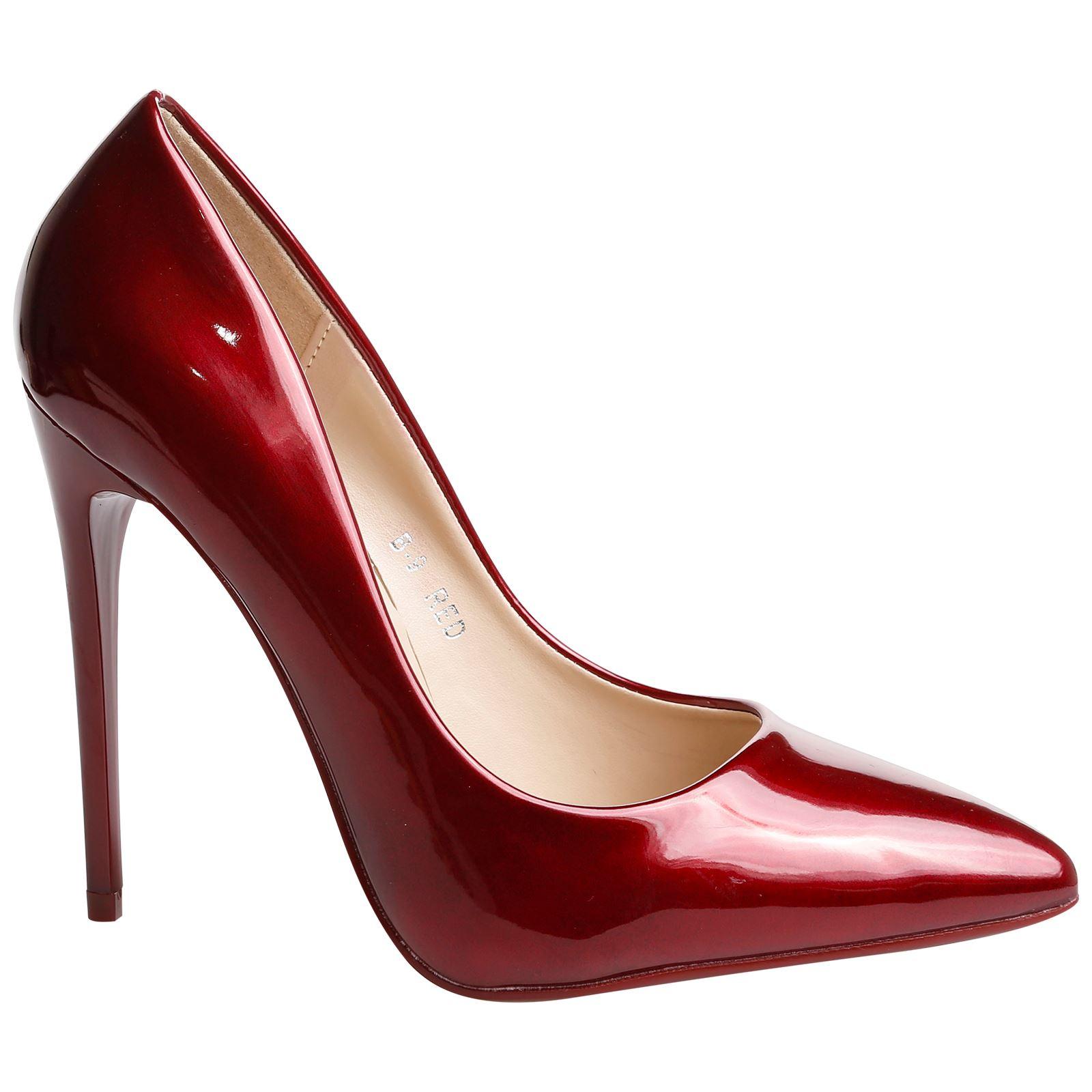 Danita Womens Stilettos High Heels Pointed Toe Court Shoes ...