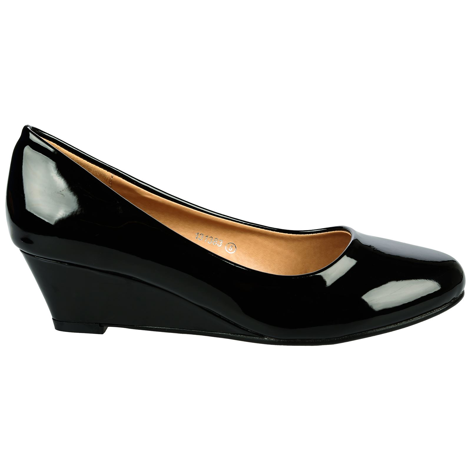 Womens Navy Closed Toe Work Shoes