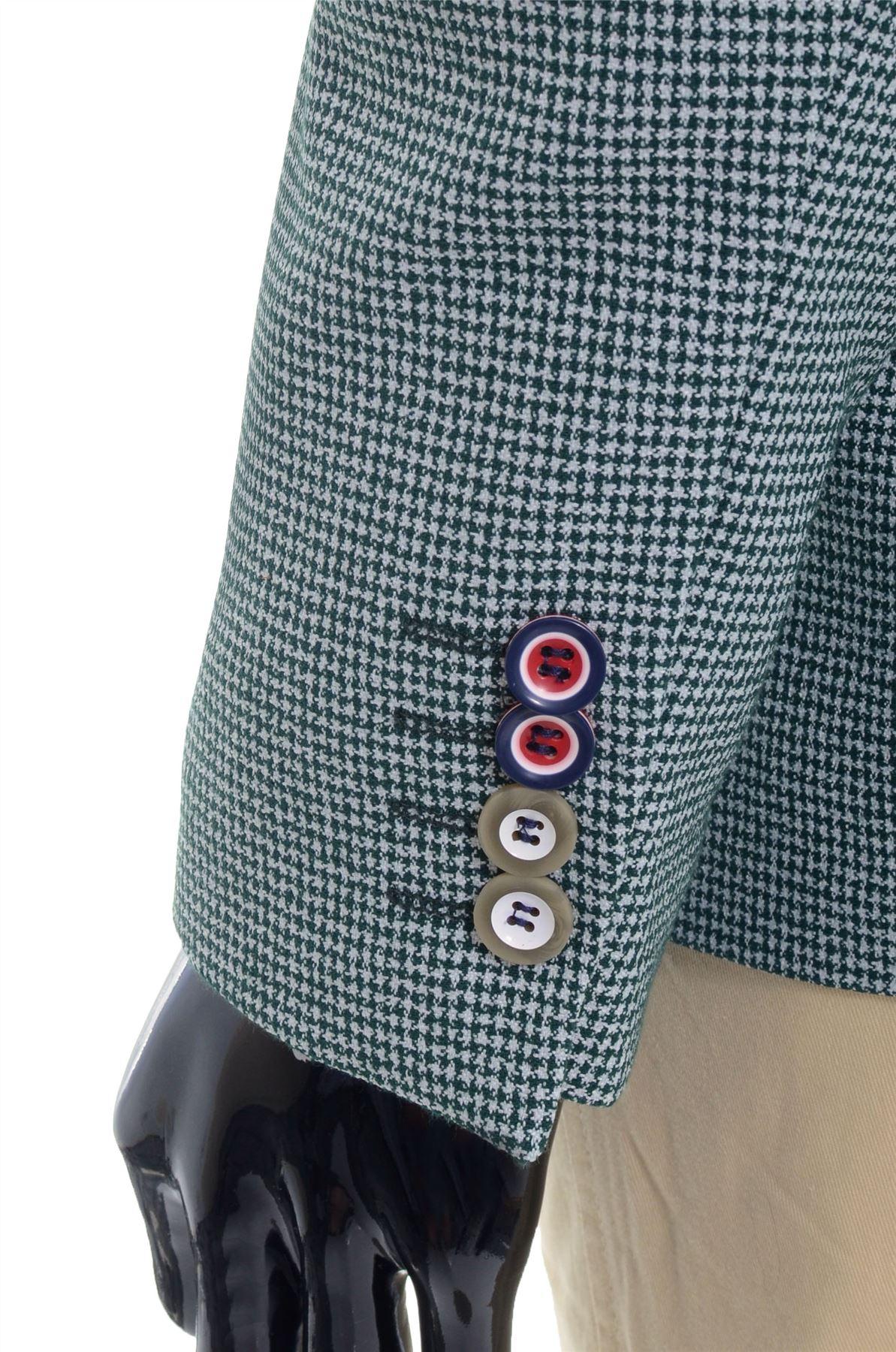 Men-039-s-Blazer-Jacket-Casual-Formal-Herringbone-Check-UK-Size-Cotton-REGULAR-FIT