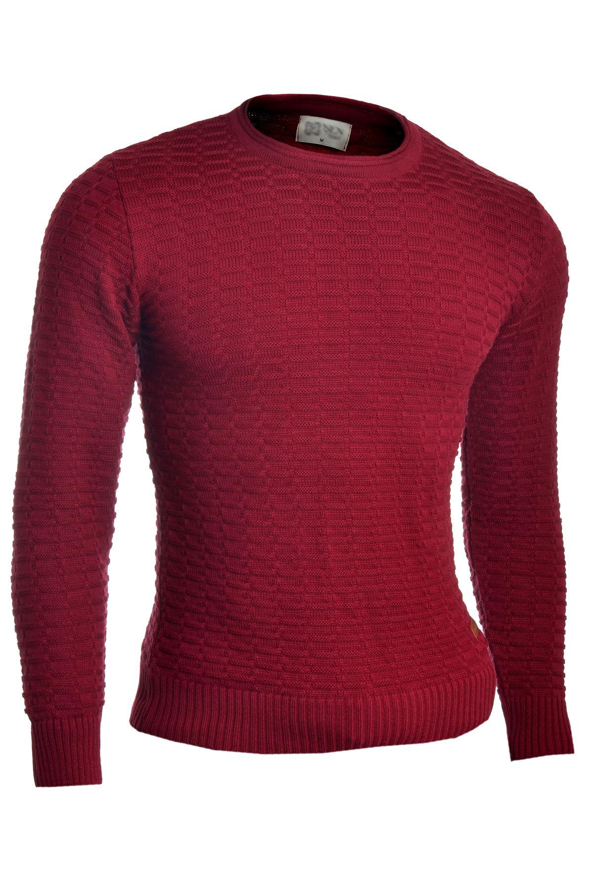 Men-039-s-Jumper-Striped-Knit-Smart-Long-Sleeve-Sweater-Crew-Neck-Top-Slim-Fitness thumbnail 2