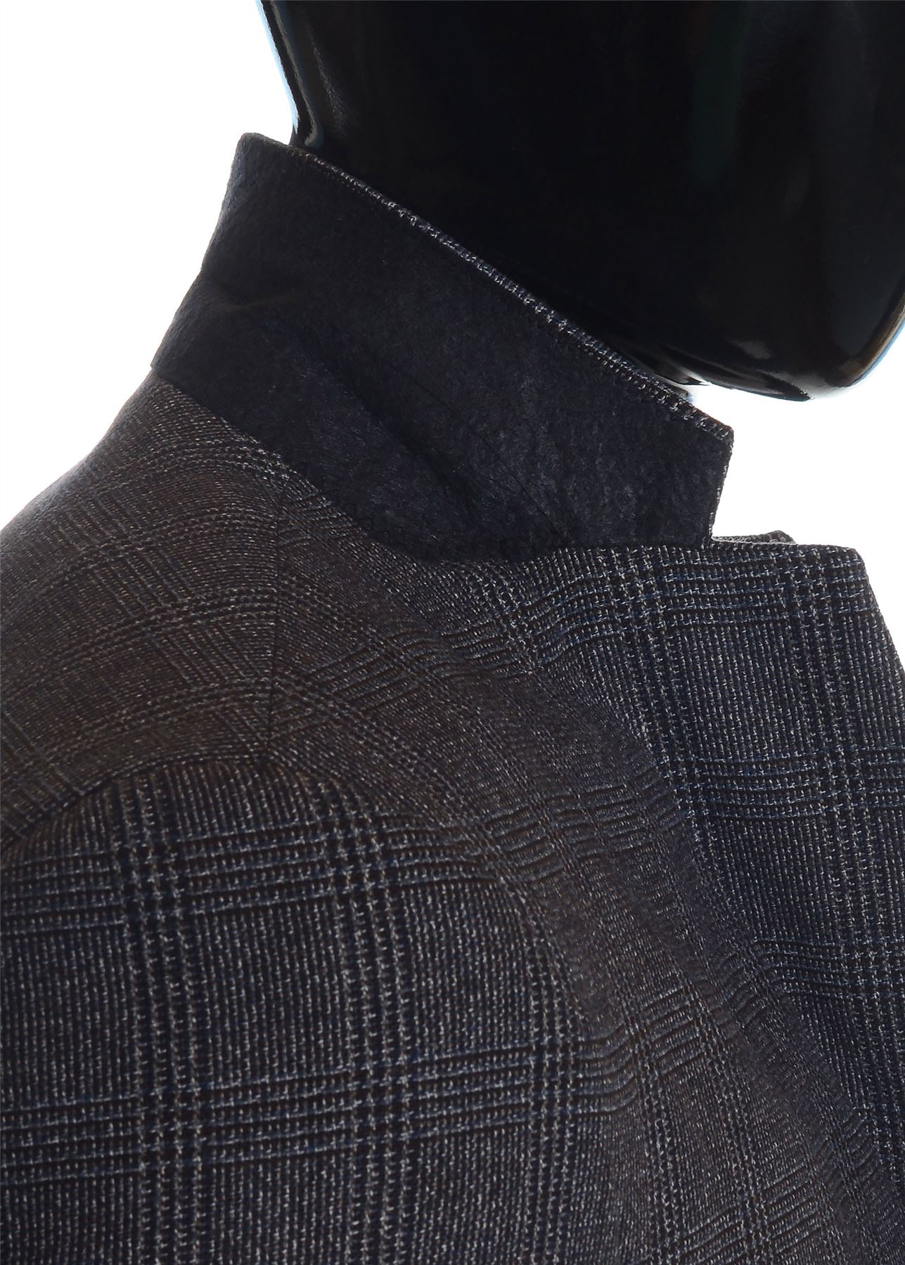 Men-039-s-Checkered-Coat-3-4-Long-Tweed-Cashmere-Wool-Trendy-Formal-Winter-Overcoat thumbnail 27