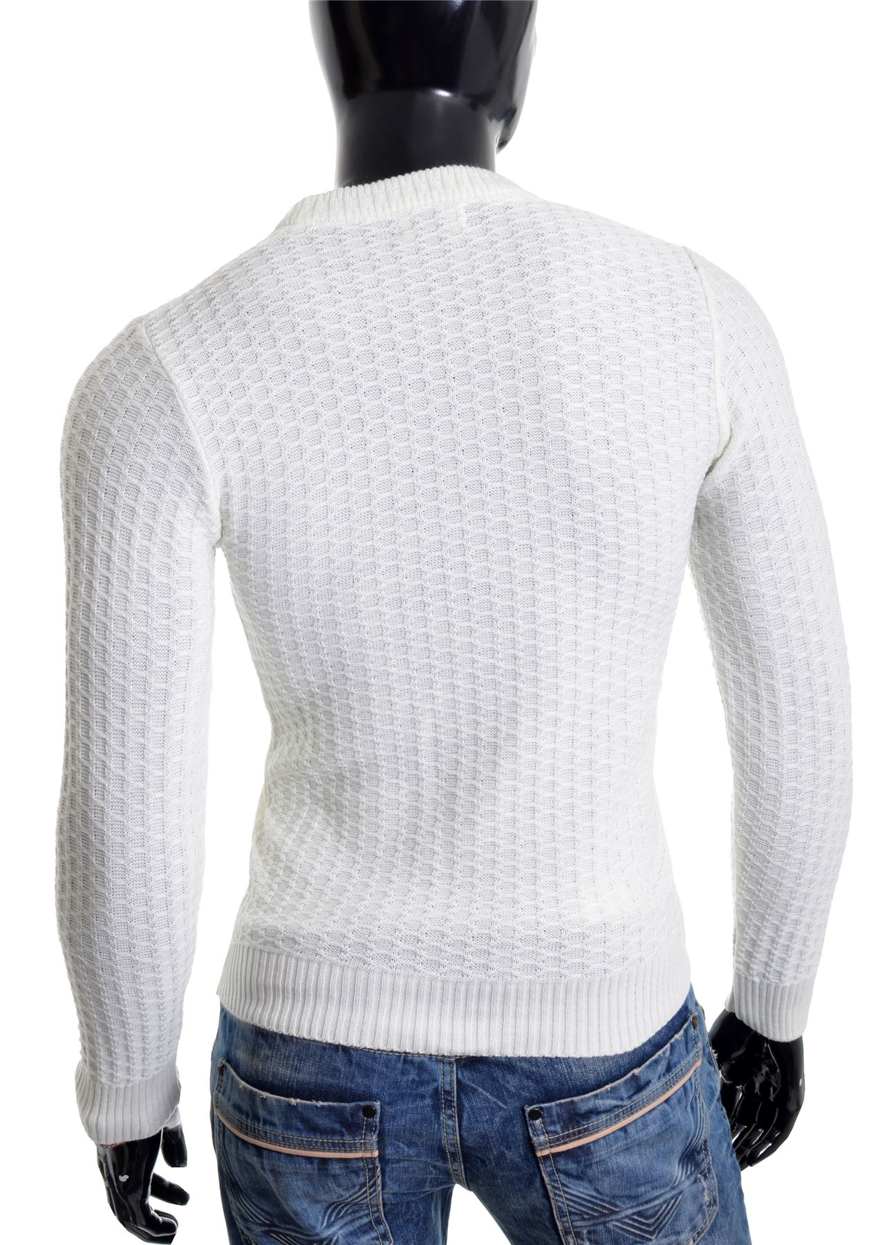 D-amp-R-Men-039-s-Wool-Knit-Jumper-Smart-Long-Sleeve-Sweater-Crew-Neck-Top thumbnail 11