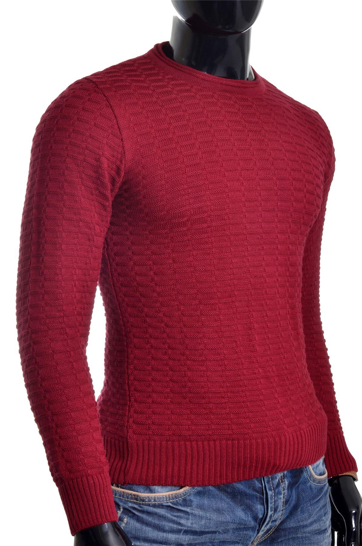 Men-039-s-Jumper-Striped-Knit-Smart-Long-Sleeve-Sweater-Crew-Neck-Top-Slim-Fitness thumbnail 4