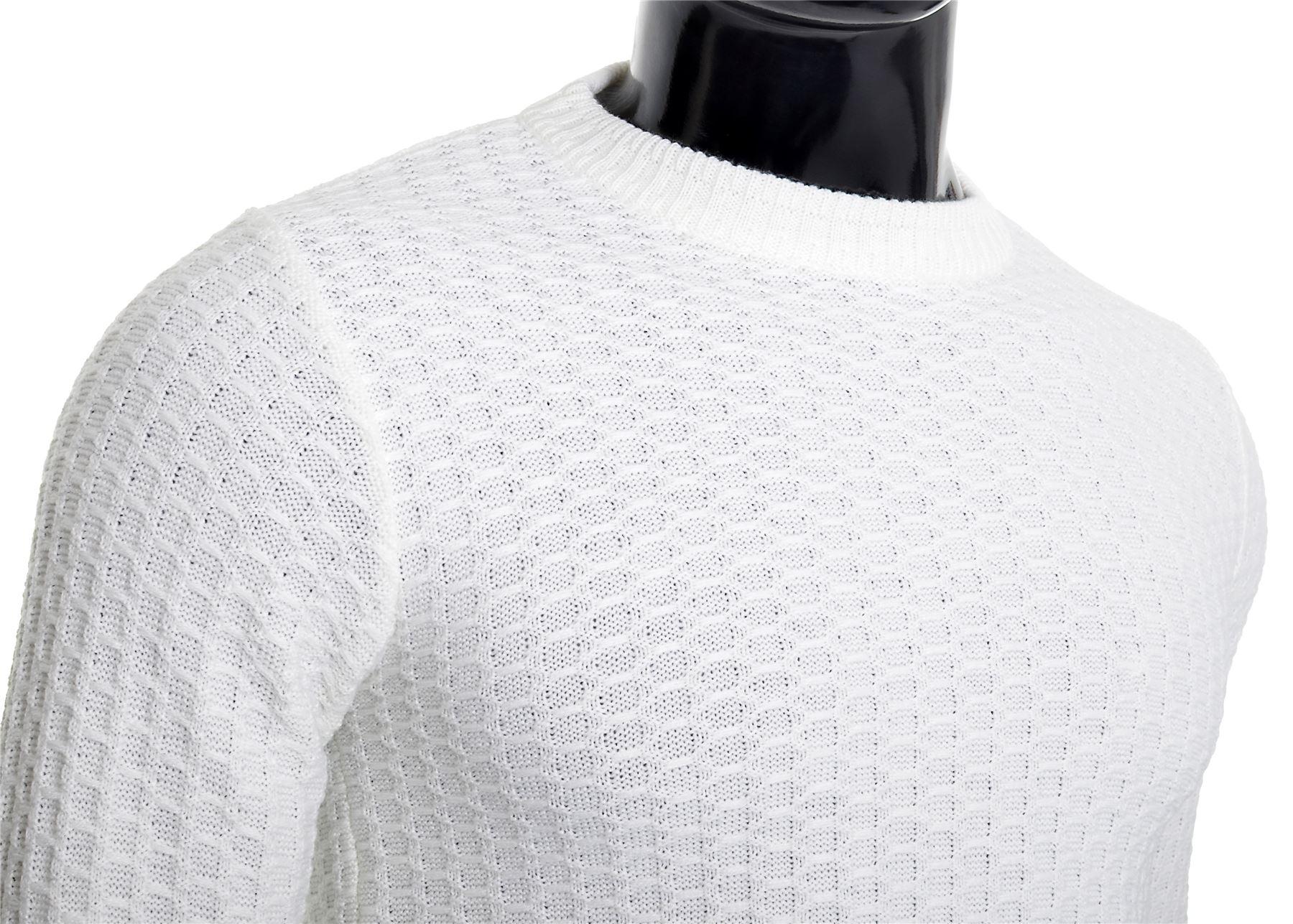 D-amp-R-Men-039-s-Wool-Knit-Jumper-Smart-Long-Sleeve-Sweater-Crew-Neck-Top thumbnail 10