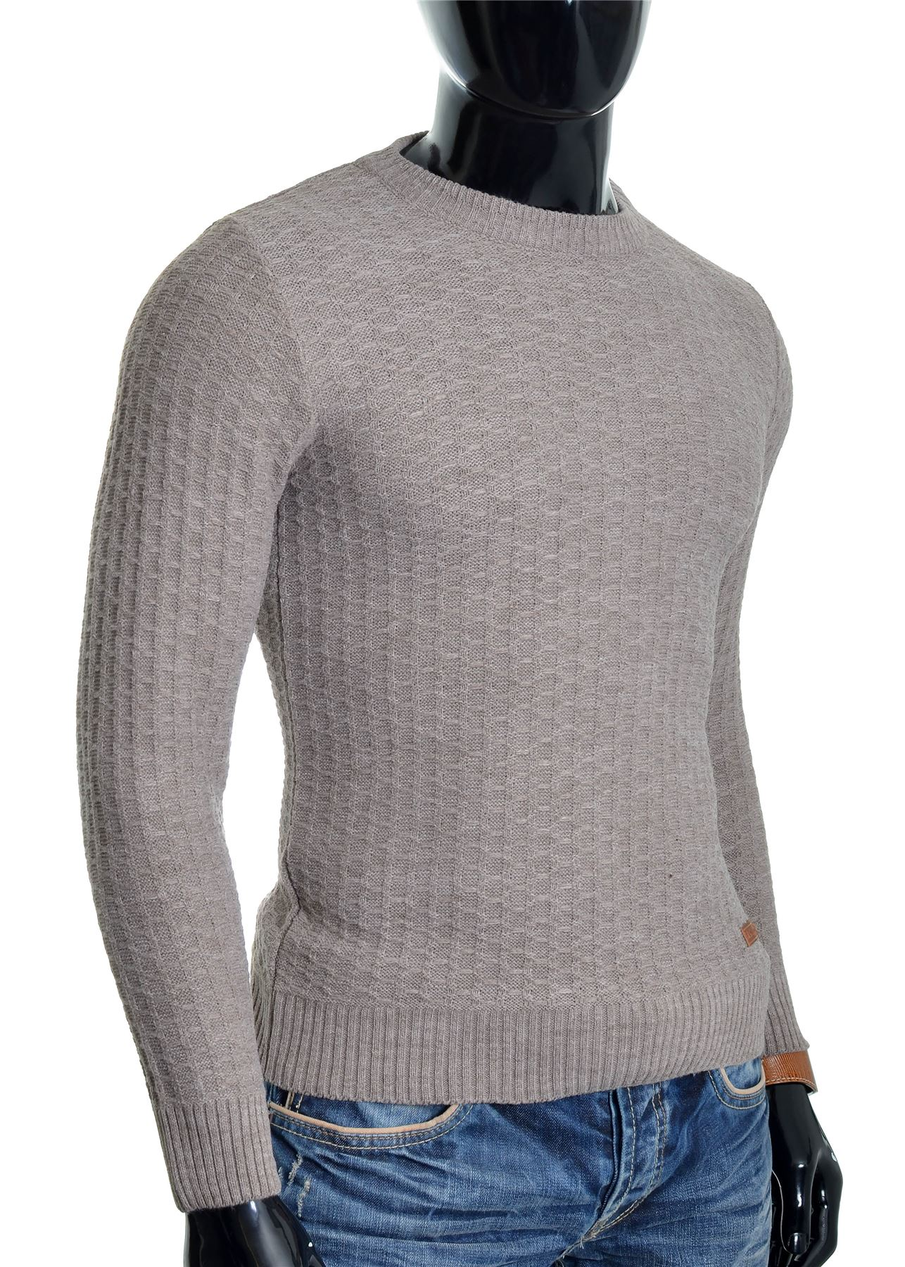 D-amp-R-Men-039-s-Wool-Knit-Jumper-Smart-Long-Sleeve-Sweater-Crew-Neck-Top thumbnail 5