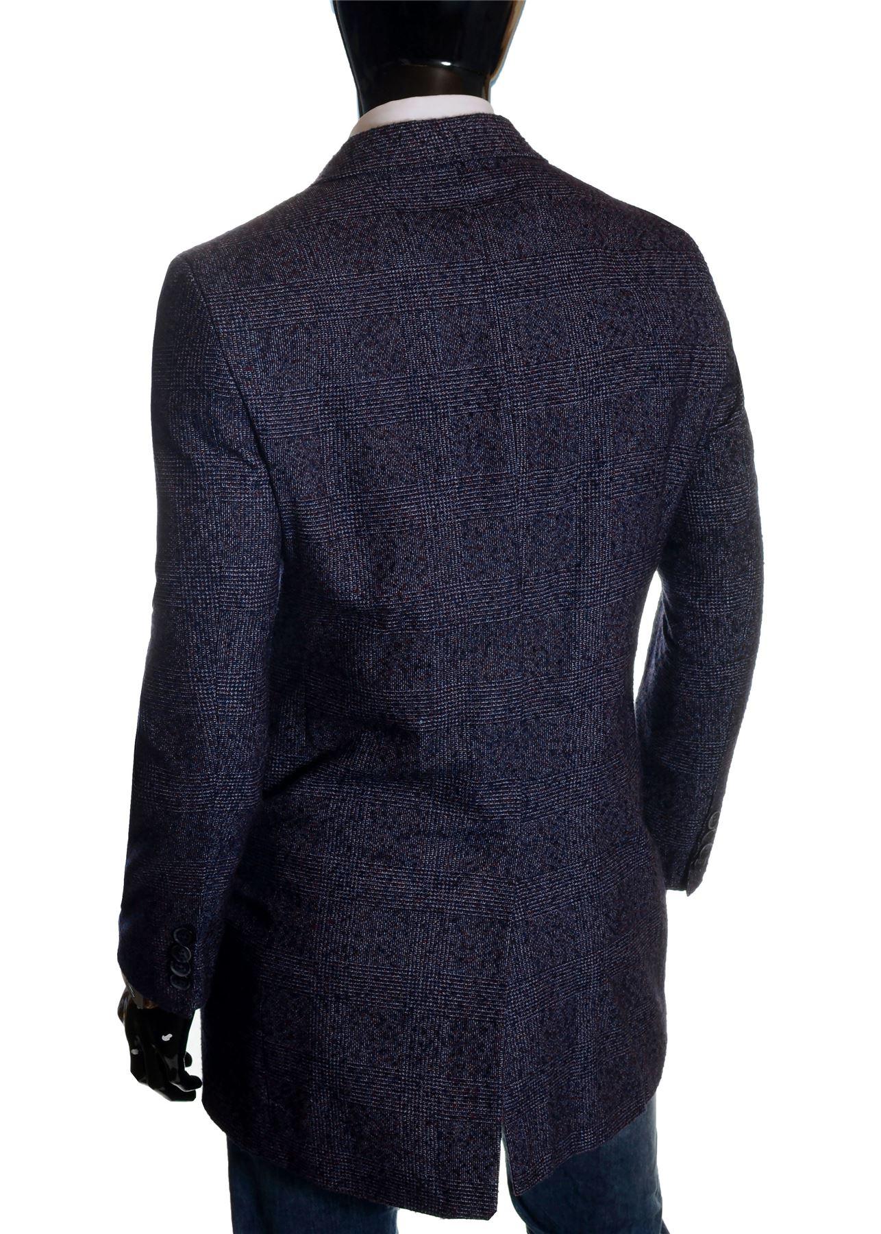Men-039-s-Checkered-Coat-3-4-Long-Tweed-Cashmere-Wool-Trendy-Formal-Winter-Overcoat thumbnail 22