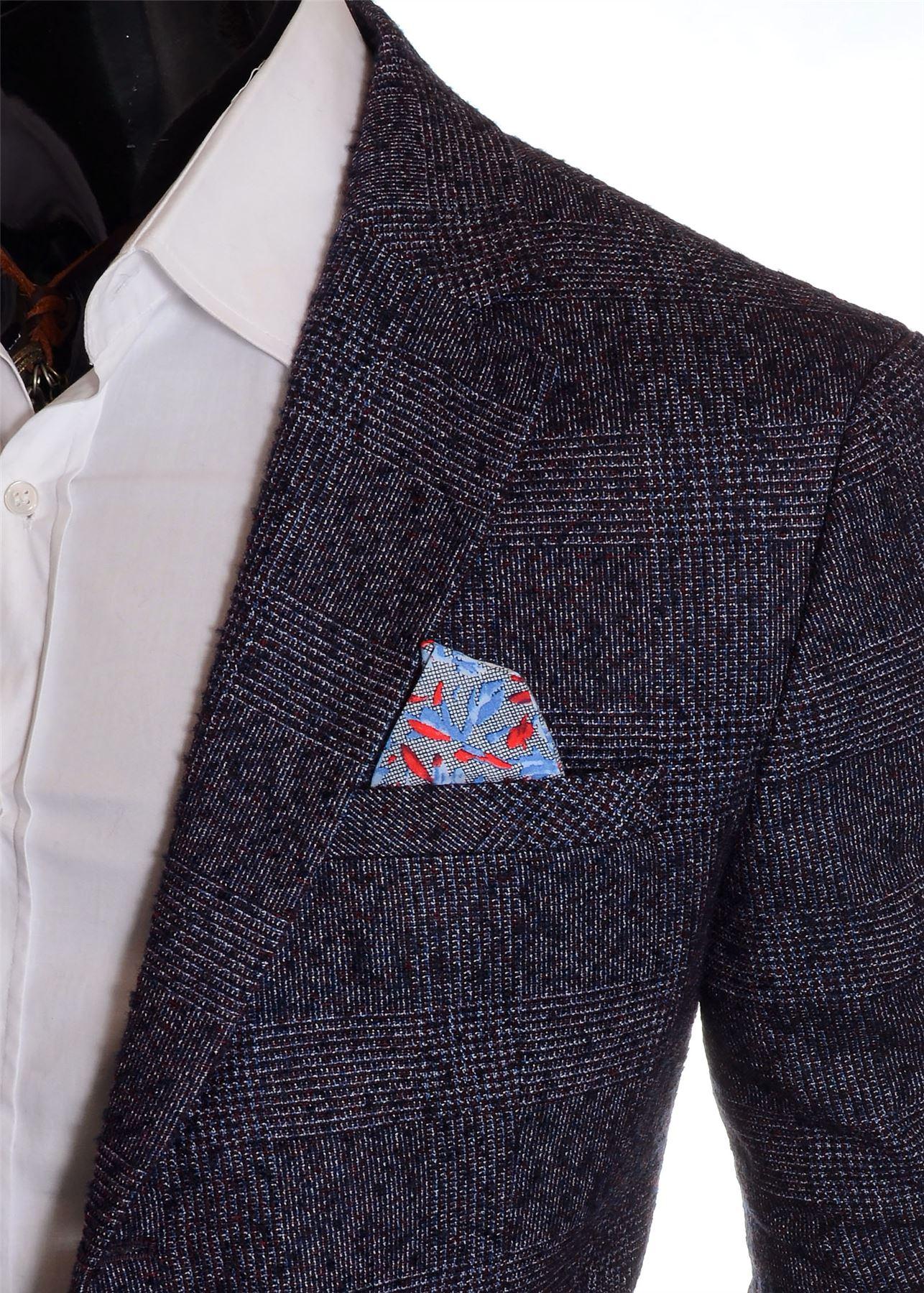 Men-039-s-Checkered-Coat-3-4-Long-Tweed-Cashmere-Wool-Trendy-Formal-Winter-Overcoat thumbnail 20