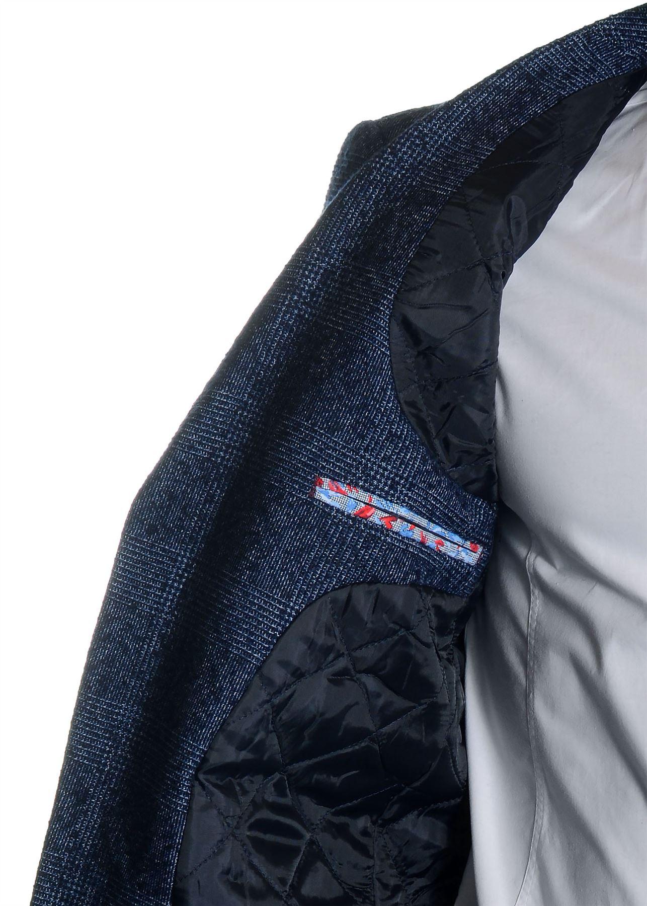 Men-039-s-Checkered-Coat-3-4-Long-Tweed-Cashmere-Wool-Trendy-Formal-Winter-Overcoat thumbnail 9