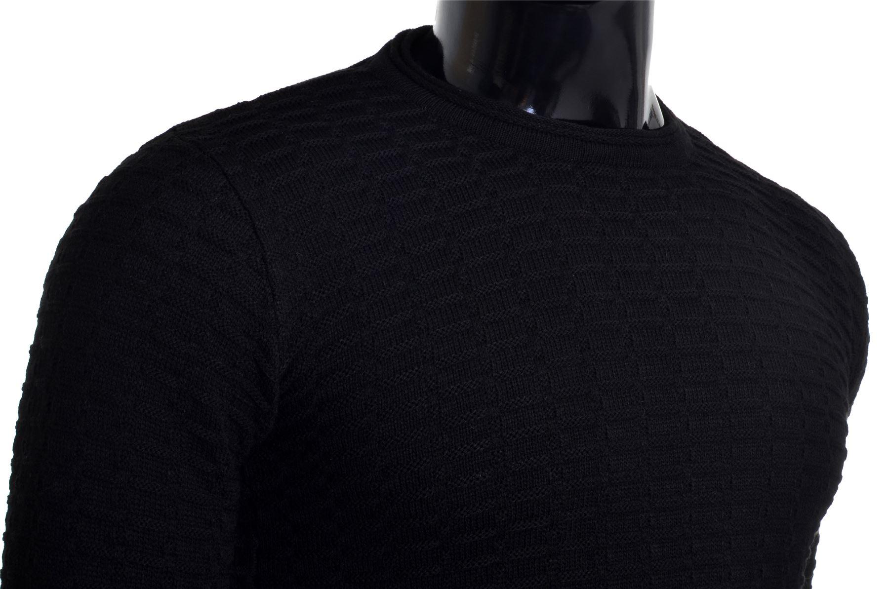 Men-039-s-Jumper-Striped-Knit-Smart-Long-Sleeve-Sweater-Crew-Neck-Top-Slim-Fitness thumbnail 10