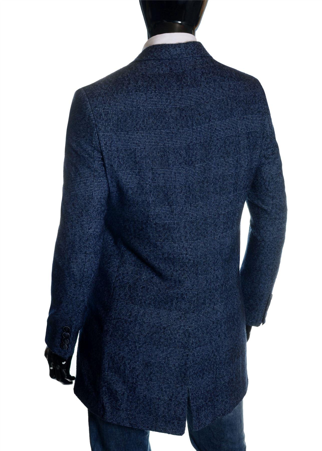Men-039-s-Checkered-Coat-3-4-Long-Tweed-Cashmere-Wool-Trendy-Formal-Winter-Overcoat thumbnail 11