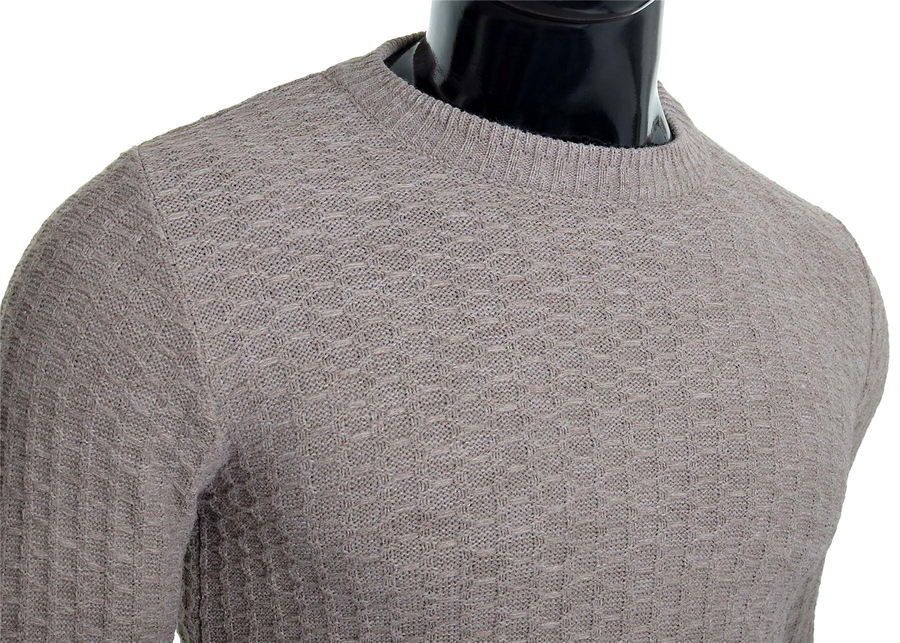 D-amp-R-Men-039-s-Wool-Knit-Jumper-Smart-Long-Sleeve-Sweater-Crew-Neck-Top thumbnail 4