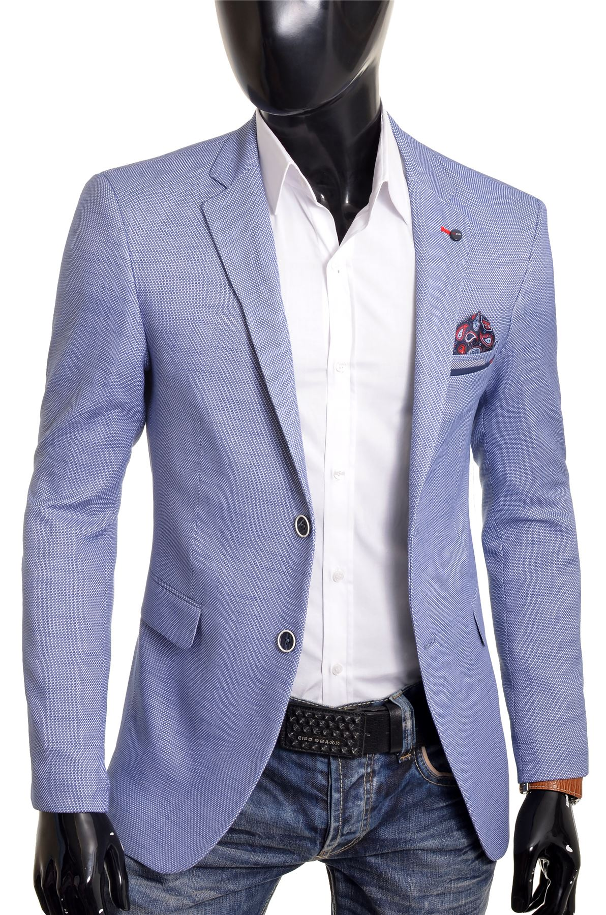 Mens-Blazer-Jacket-Casual-Formal-Spotted-Pattern-Paisley-Finish-UK-Size-Cotton thumbnail 3