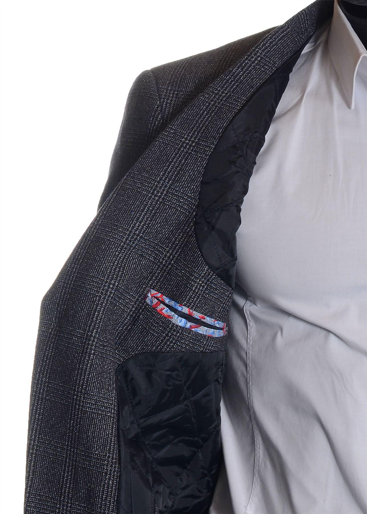 Men-039-s-Checkered-Coat-3-4-Long-Tweed-Cashmere-Wool-Trendy-Formal-Winter-Overcoat thumbnail 28