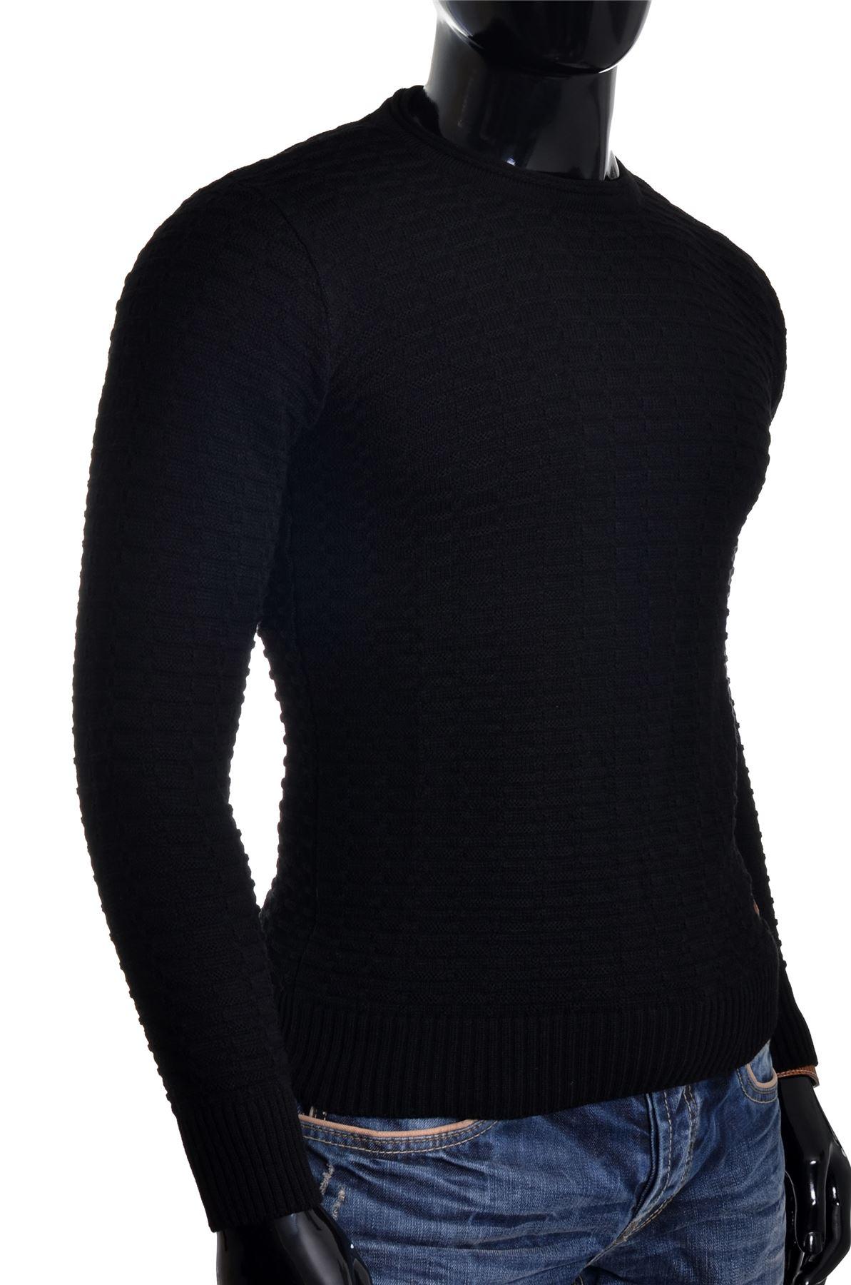 Men-039-s-Jumper-Striped-Knit-Smart-Long-Sleeve-Sweater-Crew-Neck-Top-Slim-Fitness thumbnail 9