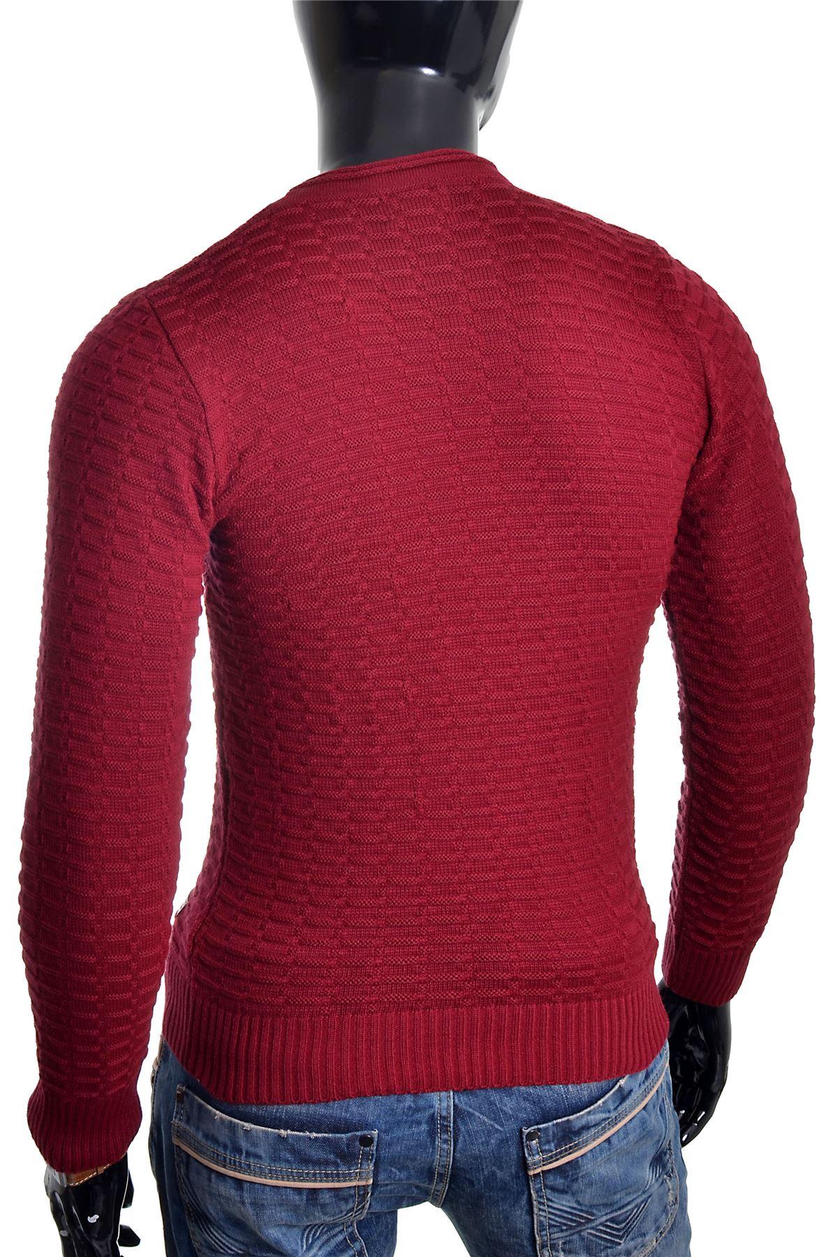 Men-039-s-Jumper-Striped-Knit-Smart-Long-Sleeve-Sweater-Crew-Neck-Top-Slim-Fitness thumbnail 6