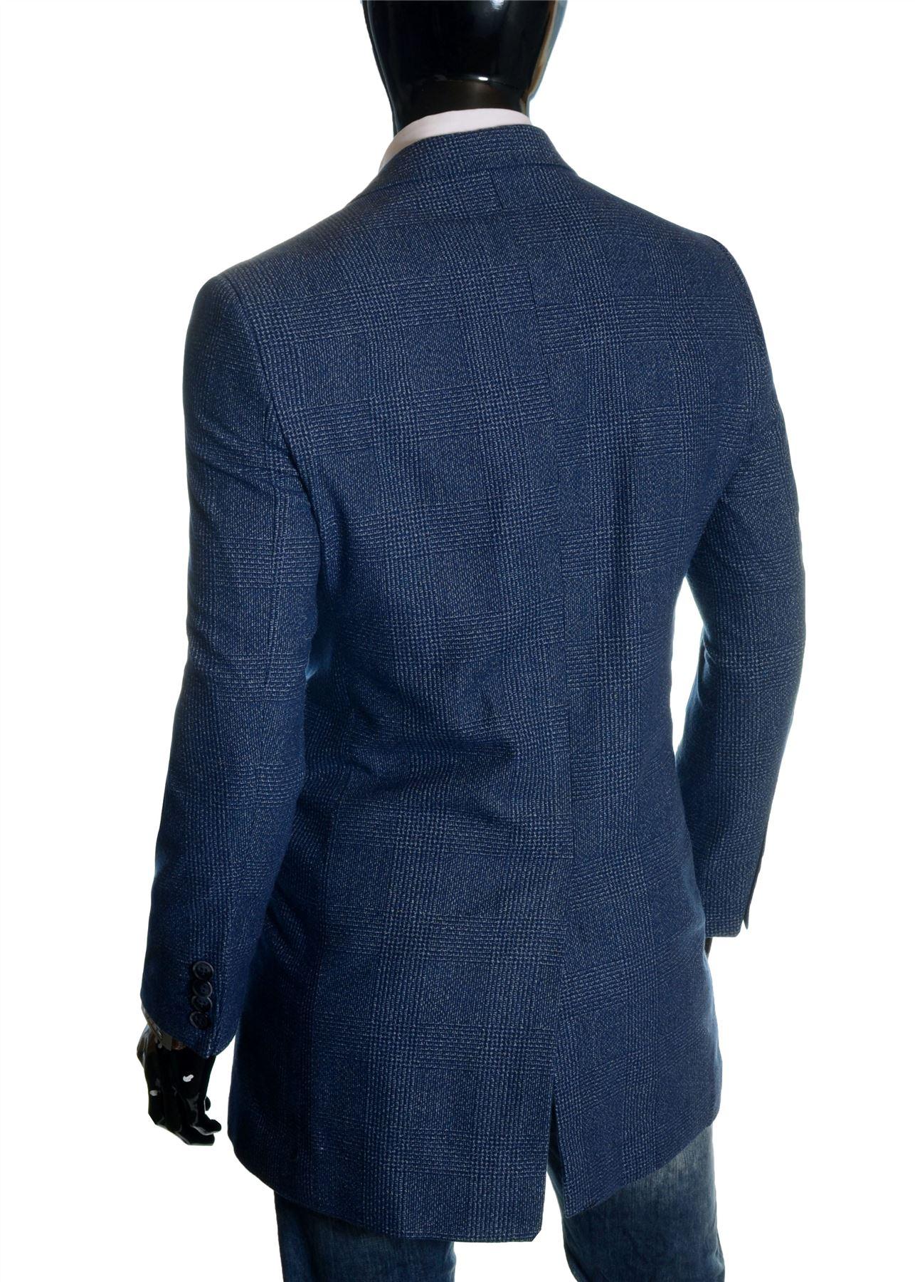 Men-039-s-Checkered-Coat-3-4-Long-Tweed-Cashmere-Wool-Trendy-Formal-Winter-Overcoat thumbnail 5