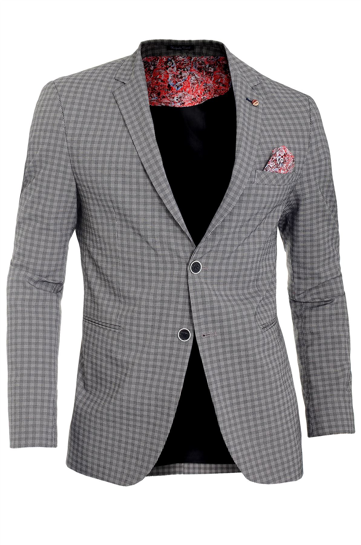 Mens-Checkered-Blazer-Jacket-Formal-Blue-Brown-Paisley-Finish-Cotton-Regular-Fit thumbnail 17