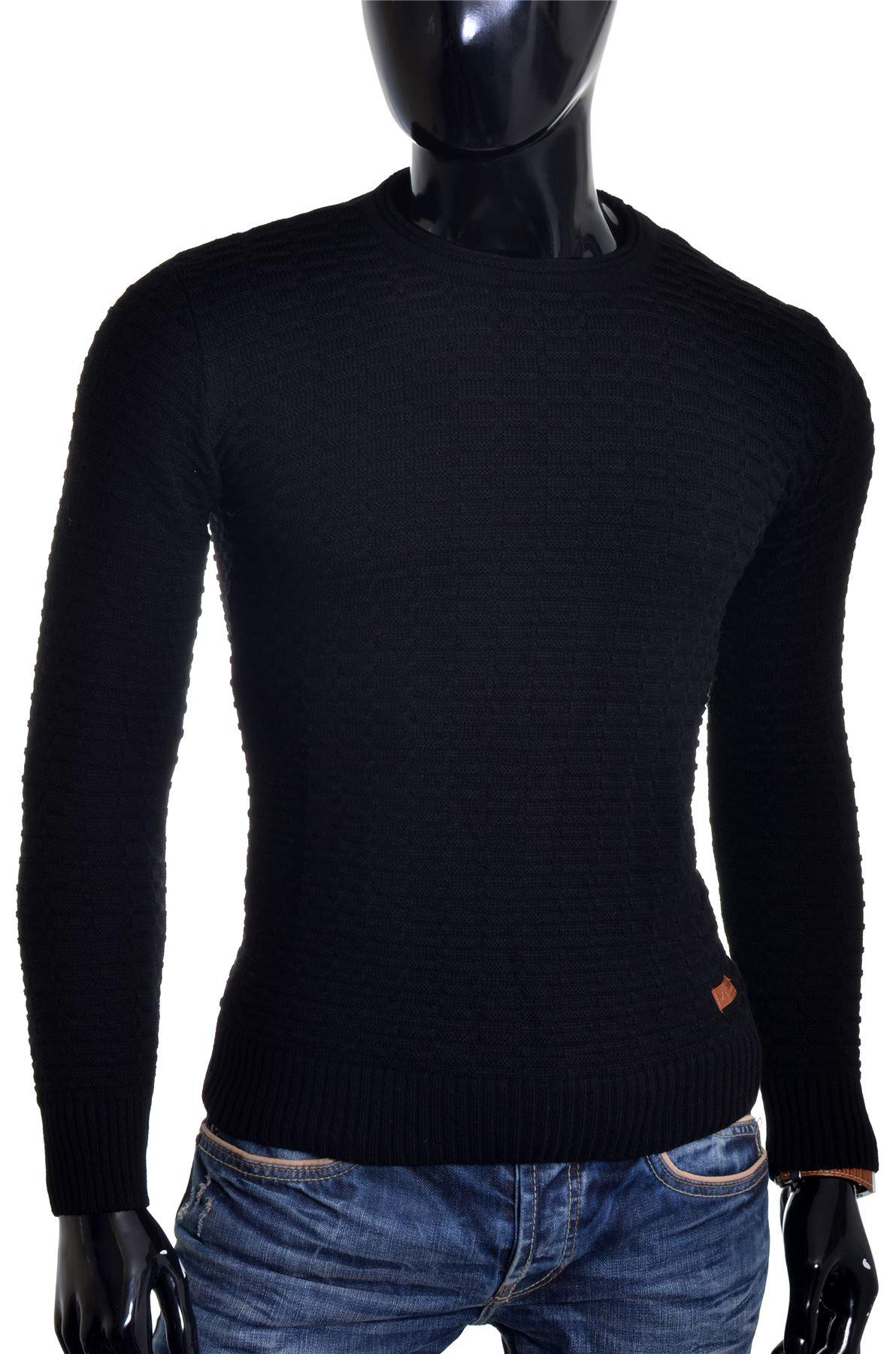 Men-039-s-Jumper-Striped-Knit-Smart-Long-Sleeve-Sweater-Crew-Neck-Top-Slim-Fitness thumbnail 8