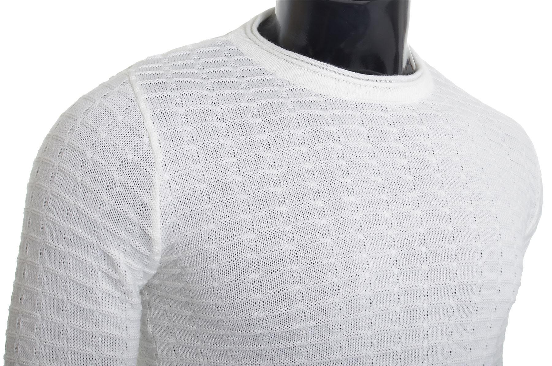 Men-039-s-Jumper-Striped-Knit-Smart-Long-Sleeve-Sweater-Crew-Neck-Top-Slim-Fitness thumbnail 15