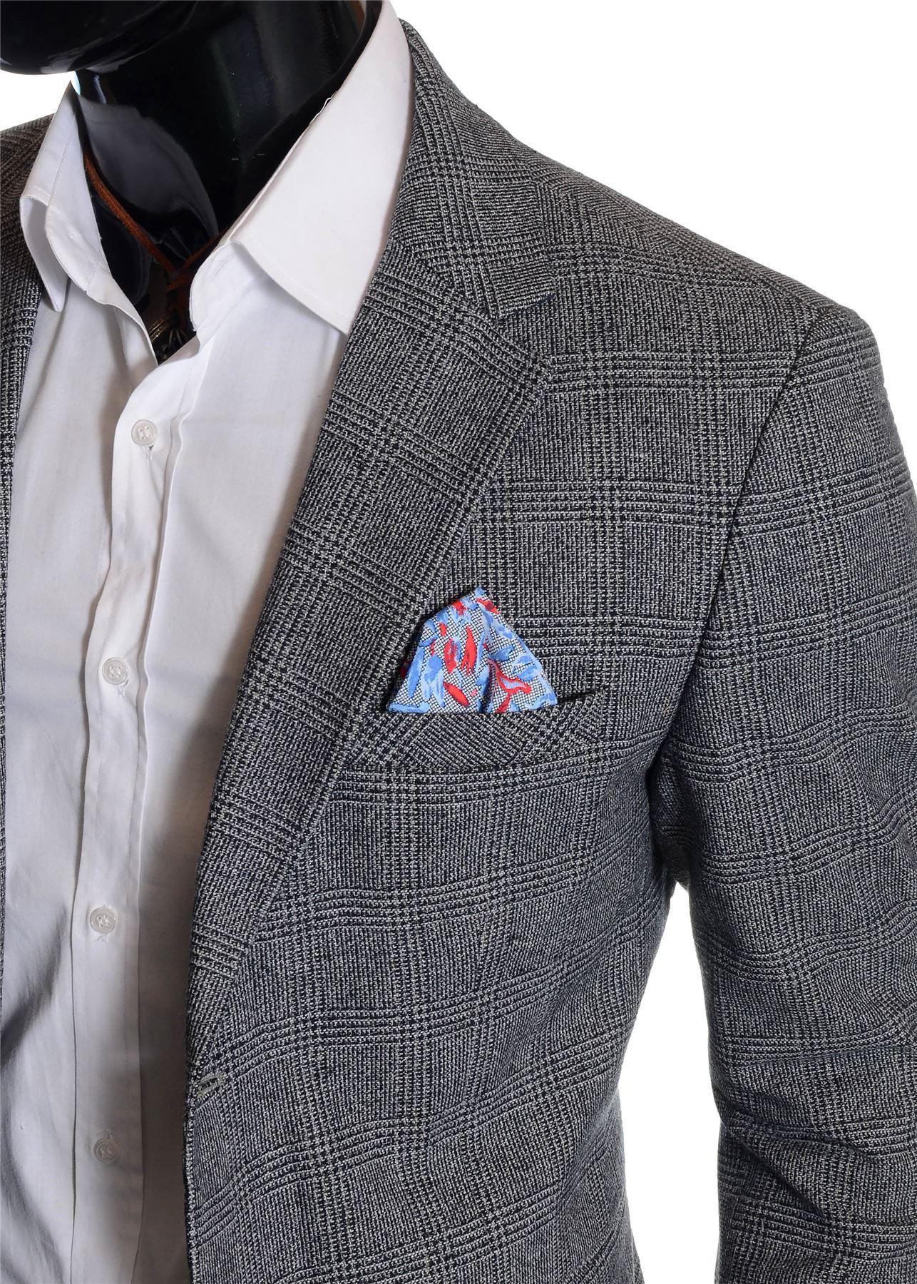 Men-039-s-Checkered-Coat-3-4-Long-Tweed-Cashmere-Wool-Trendy-Formal-Winter-Overcoat thumbnail 14