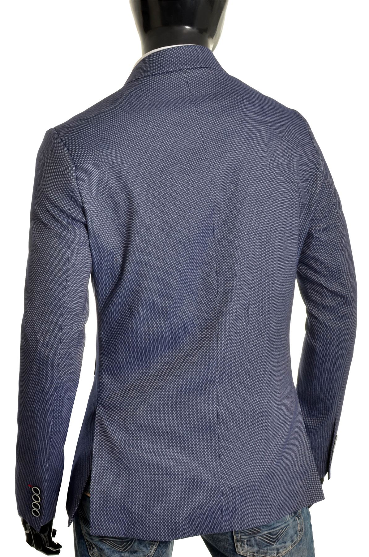 Men-039-s-Classic-Design-Blazer-Jacket-Blue-Casual-Contrast-Finish-Slim-Soft-Cotton thumbnail 8