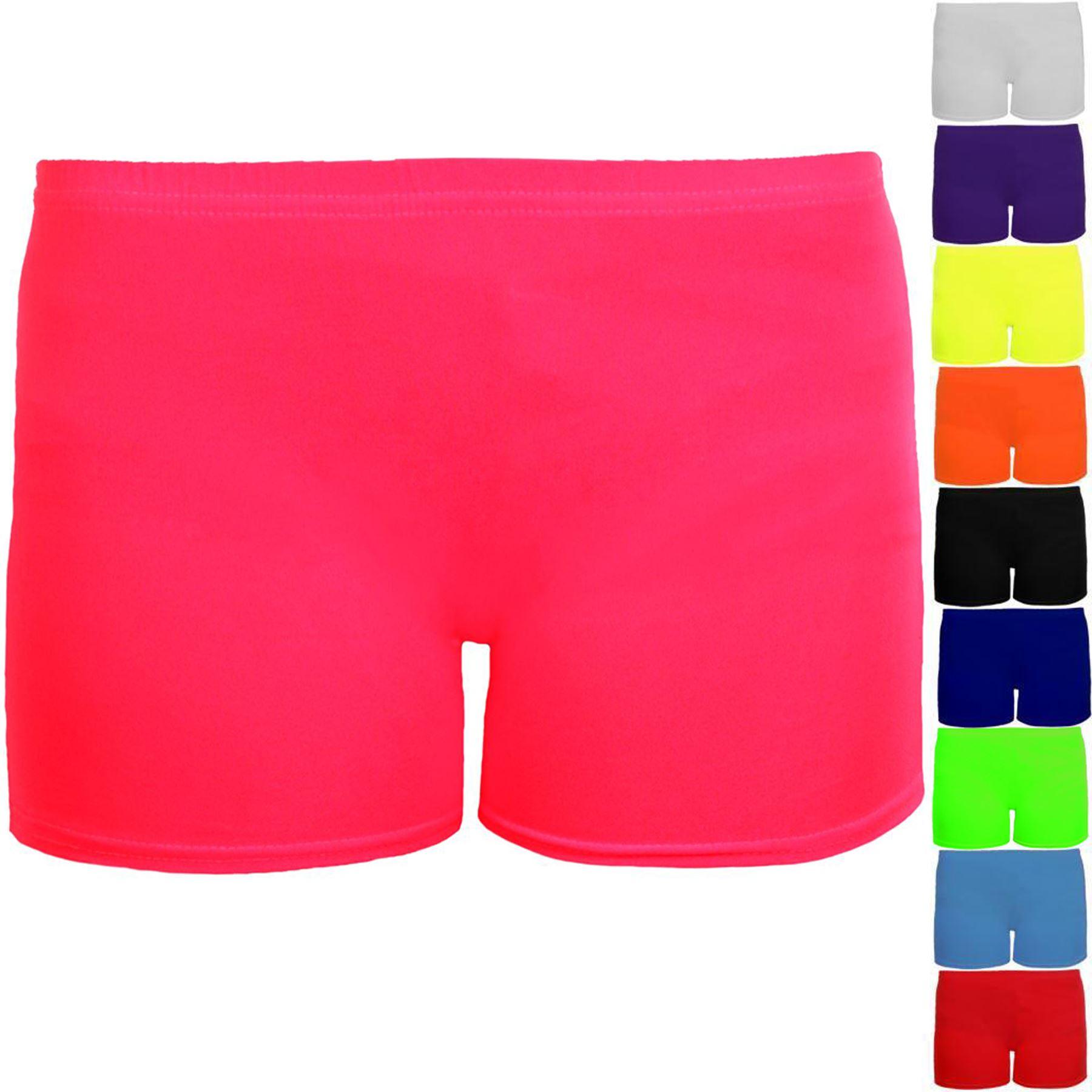 Girls Metallic Gymnastics Gym Dance Stretch Party Children/'s Hot Pants Shorts