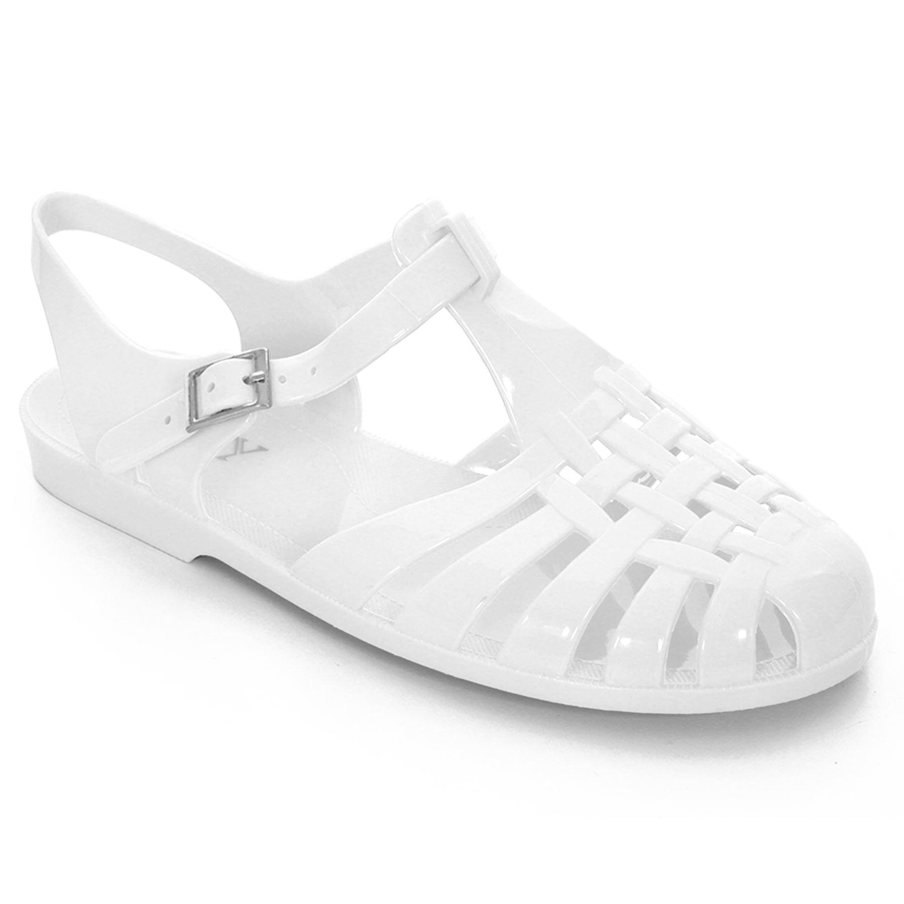 efbb04f3ecb5 Ladies Glitter Plain Beach Block Flat Heel Summer Flip Flop Jelly Sandals  Shoes