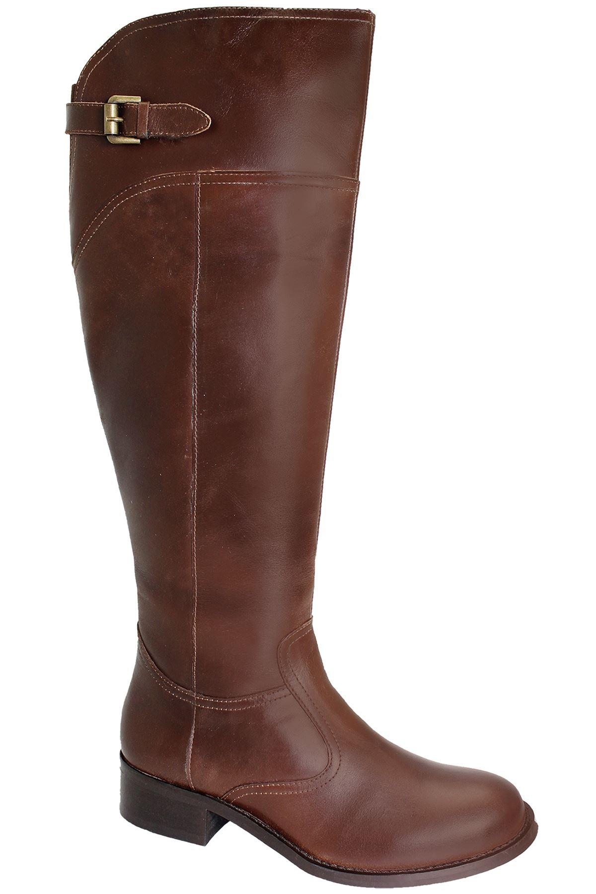 DONNA S Tacco da moto scarpe donna donna donna al ginocchio vera pelle stivali   daf507