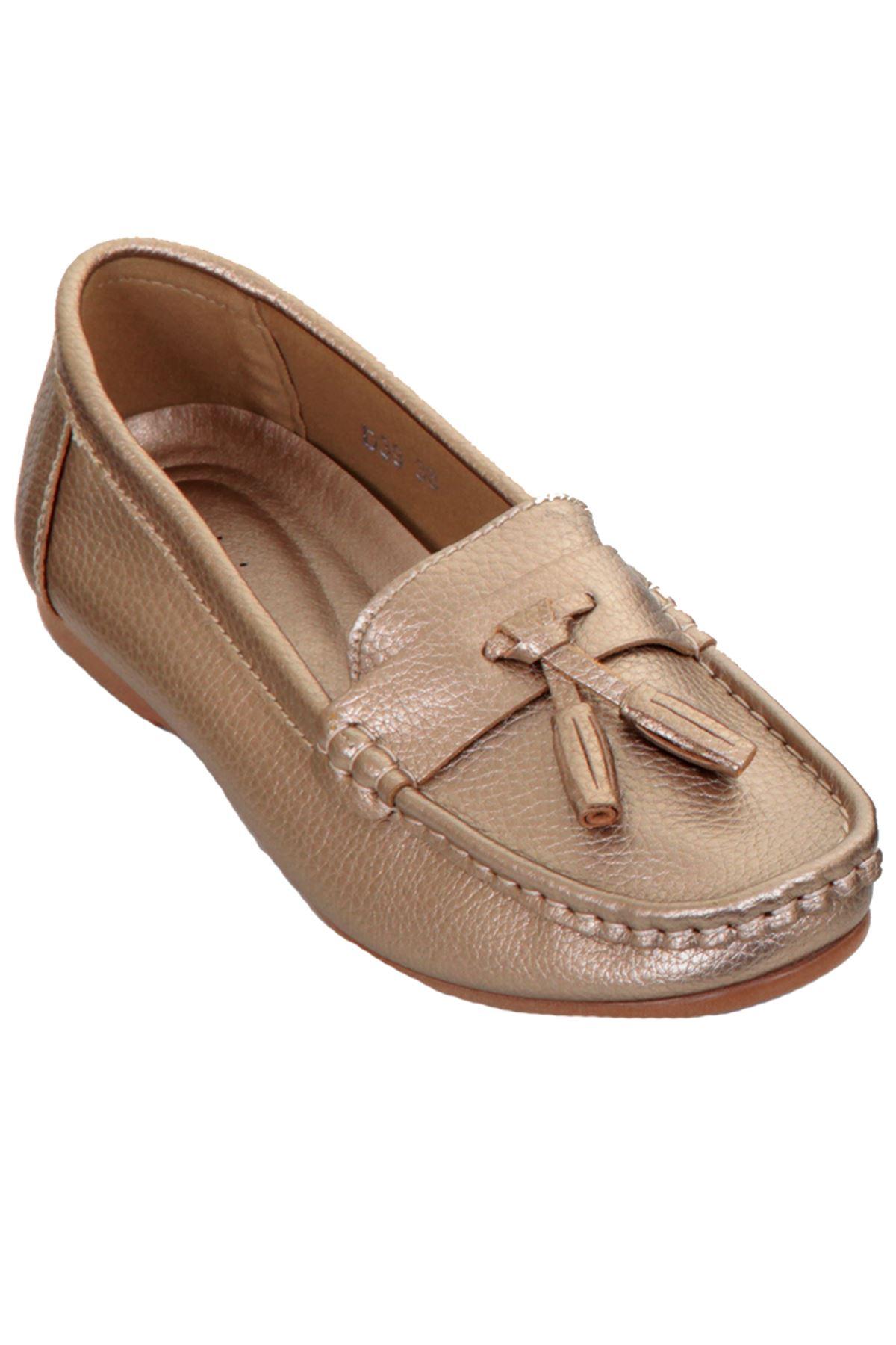 Women s Smart Shiny Metallic Moccasins Slip Flat Low Heel Tassel