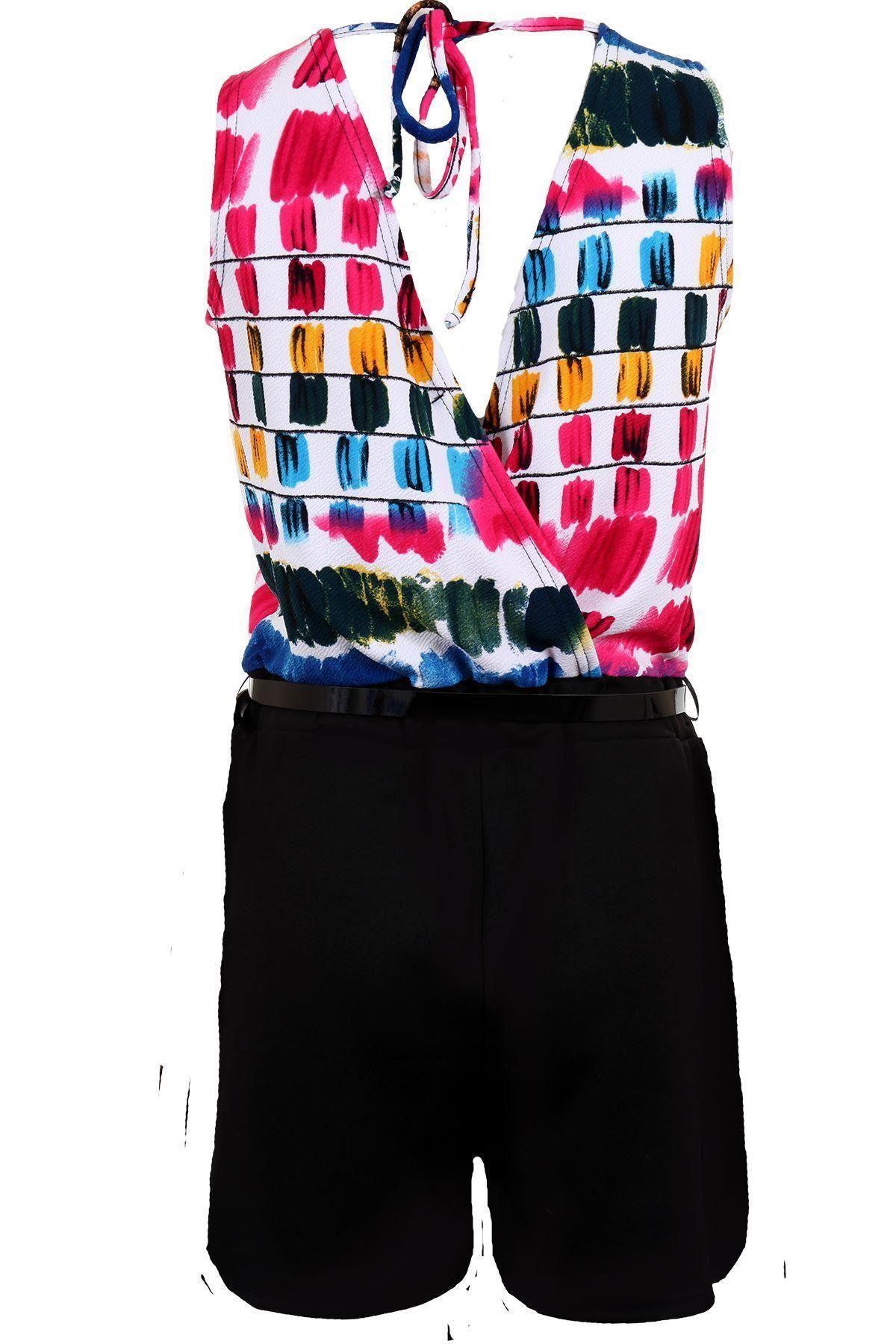 donna-senza-maniche-stampa-floreale-CROCE-schiena-scialle-con-Cintura-alla-moda