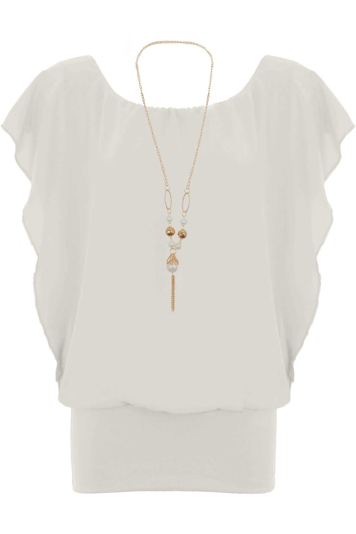 apricot necklace top batwing