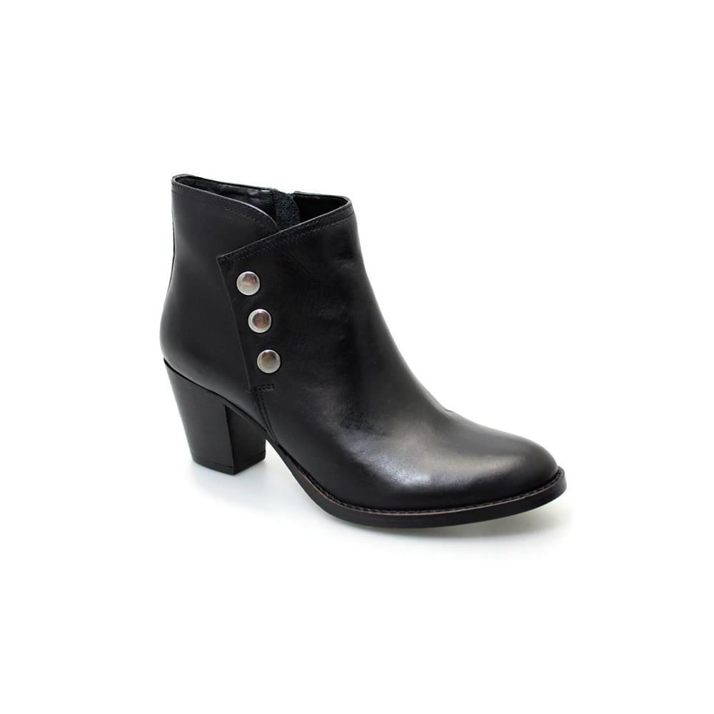 Europe Ladies Ankle Stretchy Boots Pull Ons Pu Leather Mid Heels Block Heels Mid Round Toe 280cba