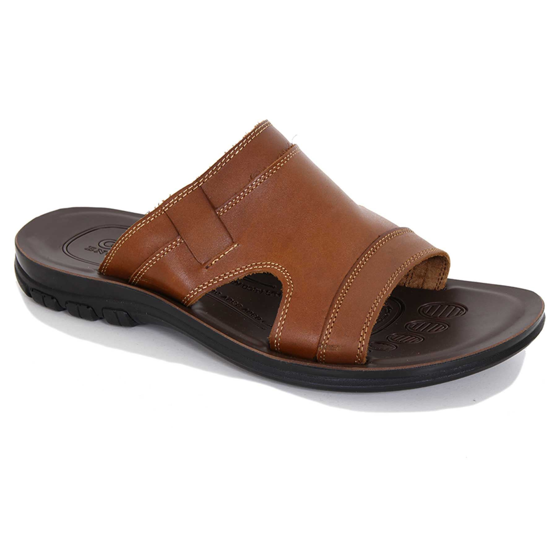 Menu0026#39;s Slip On Open Toe Casual Leather Outdoor Travel Beach ...