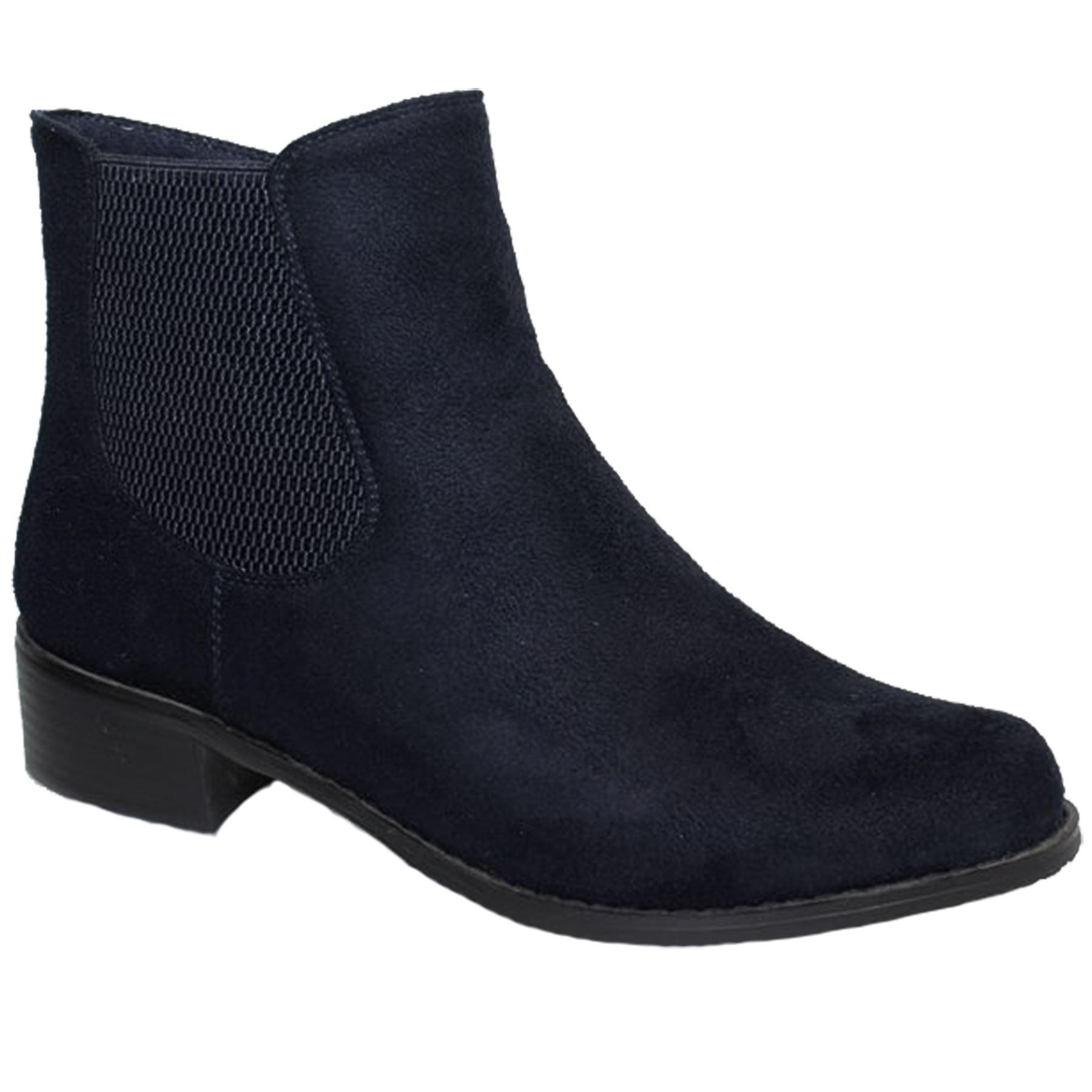 GLC541 Damenschuhe Mezzo Elasticated Heel Side Faux Suede Niedrig Heel Elasticated Ankle Stiefel 078200