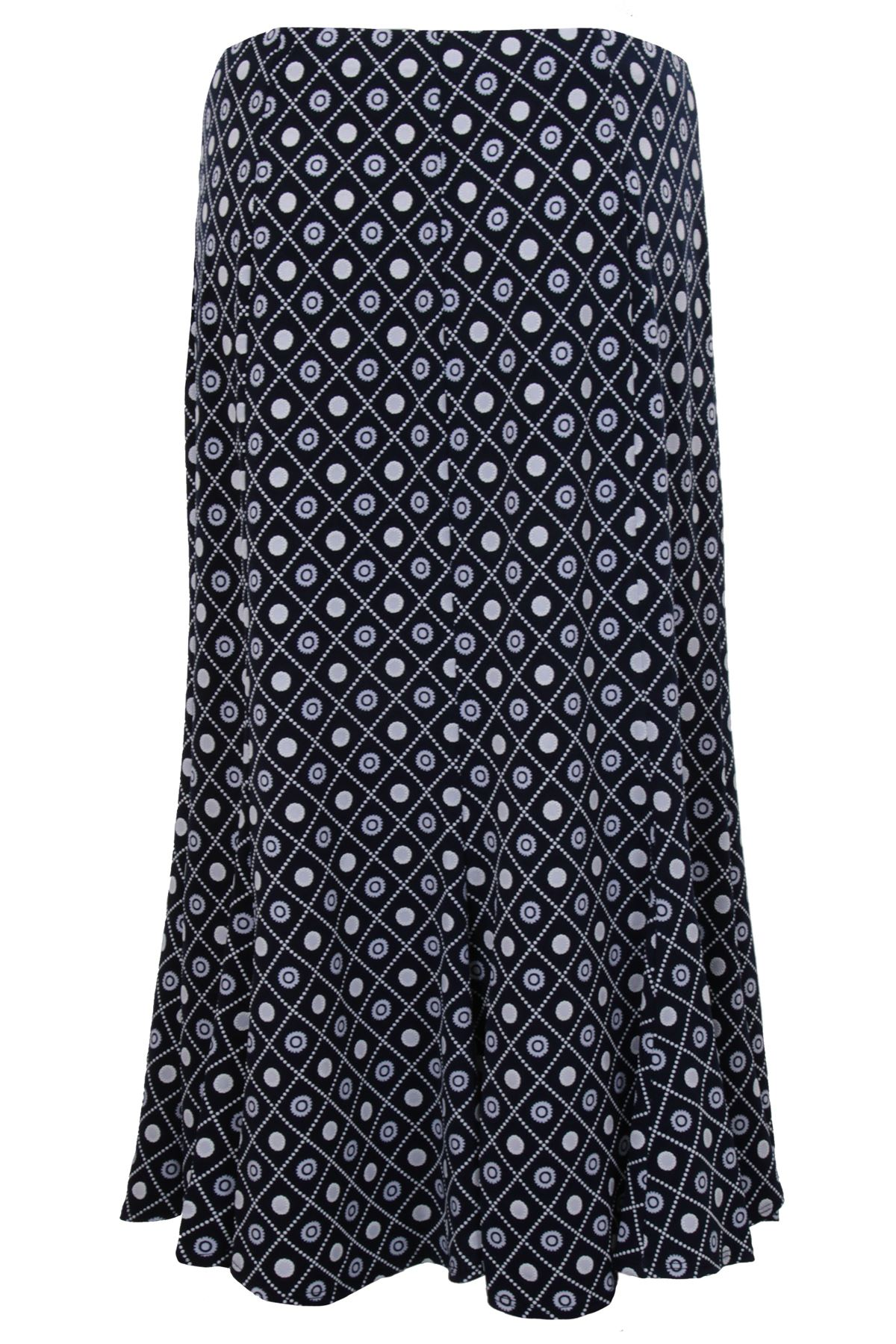Women's Flare Lined Skirt Long Sleeve Diamond Floral Waterfall Cardi Top 2 Piece
