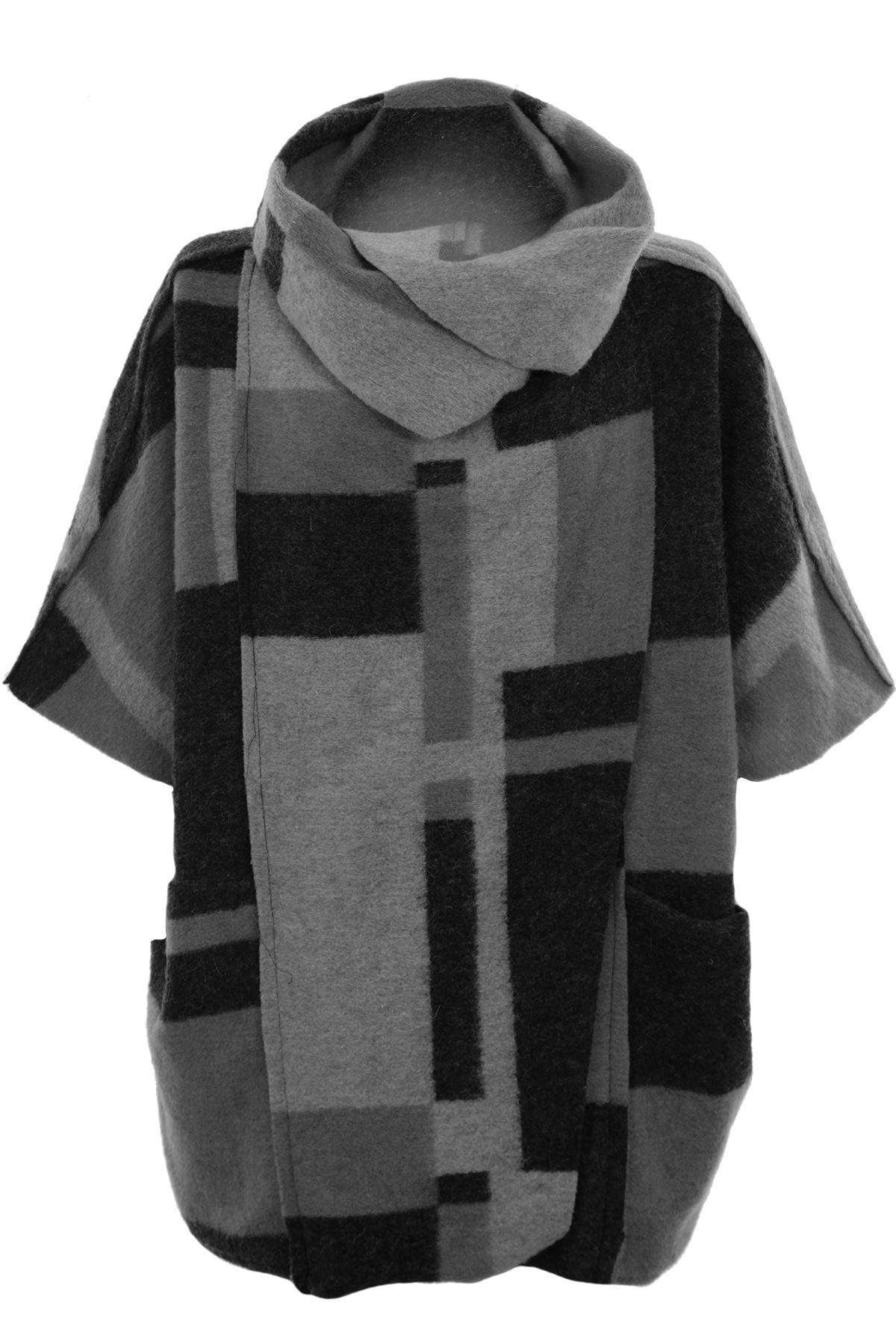 ladies cowl turtle neck patchwork check fleece wrap short. Black Bedroom Furniture Sets. Home Design Ideas