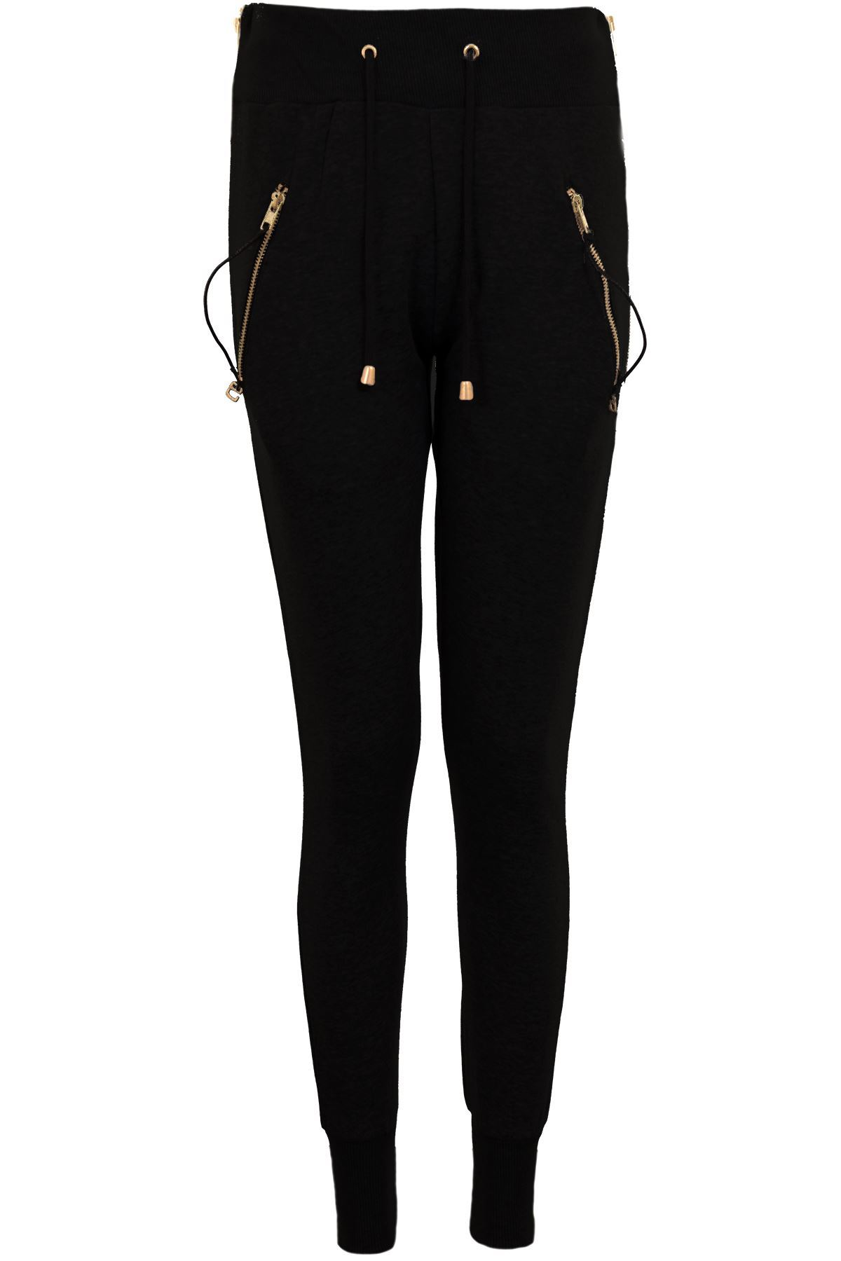 new lifestyle new york official shop Details about Ladies Luxury Gold Zip Pockets Elasticated Tracksuit Bottoms  Trousers Joggers