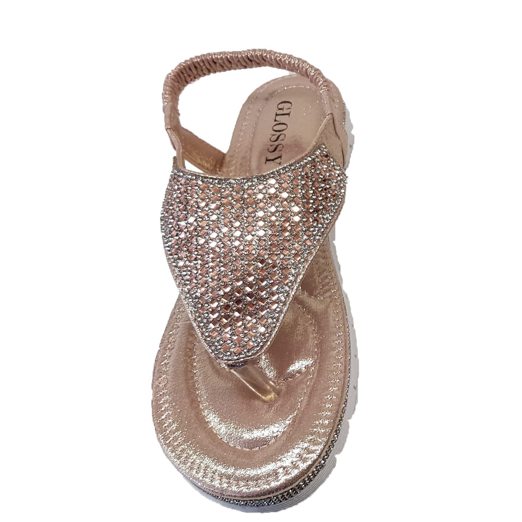 f86973b89114a femmes Strass Diamant bride arrière entre-doigt simili cuir mode ...