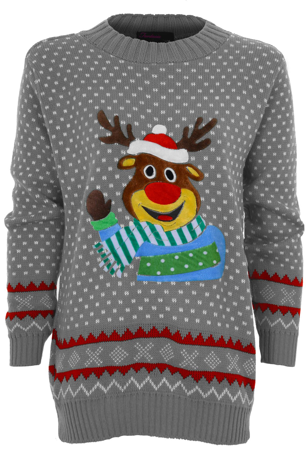 Olaf Christmas Jumper Knitting Pattern : Ladies Knitted Christmas Reindeer Snow Santa Olaf Minion Womens T-Shirt ...