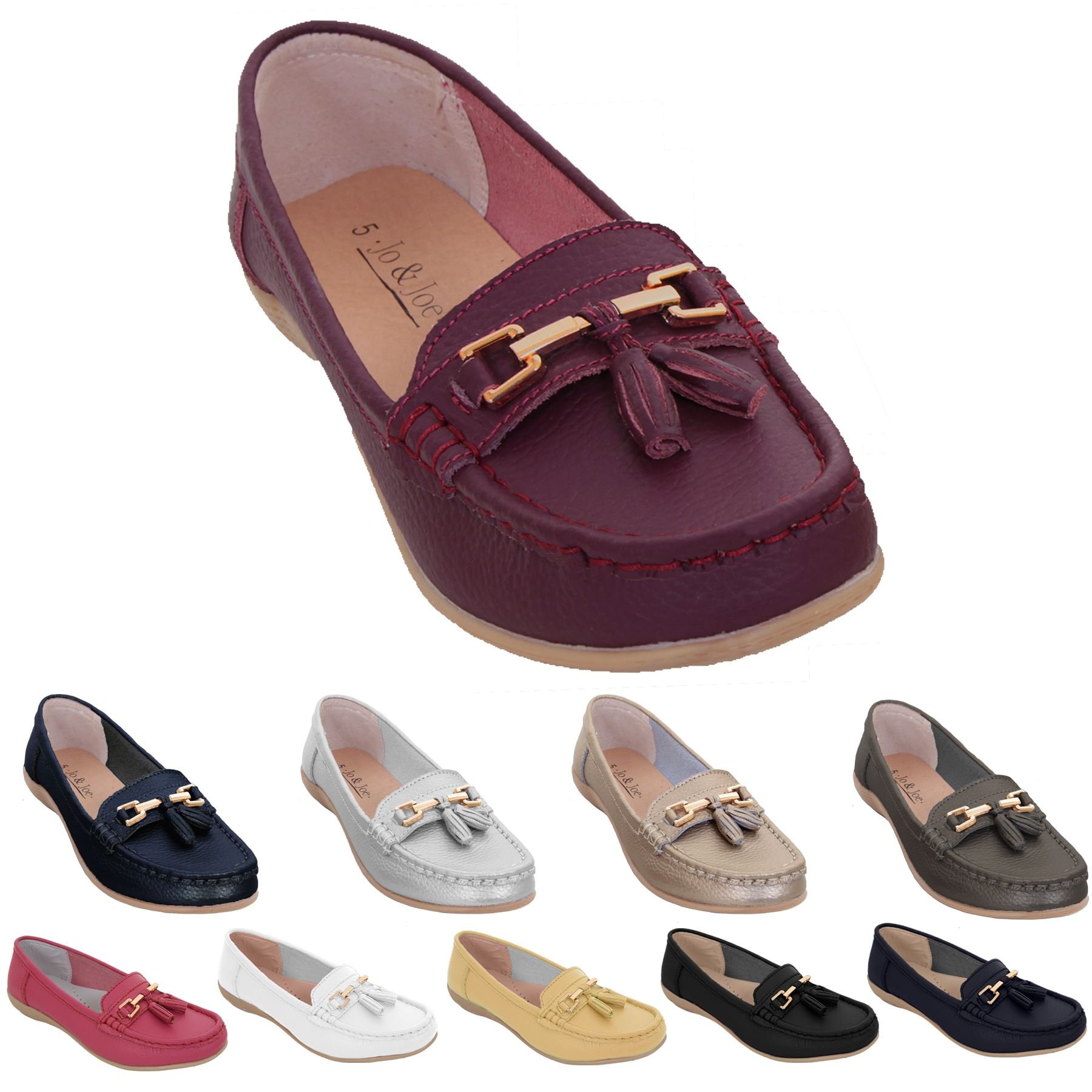 Womens Slip On Leather Wide Fit