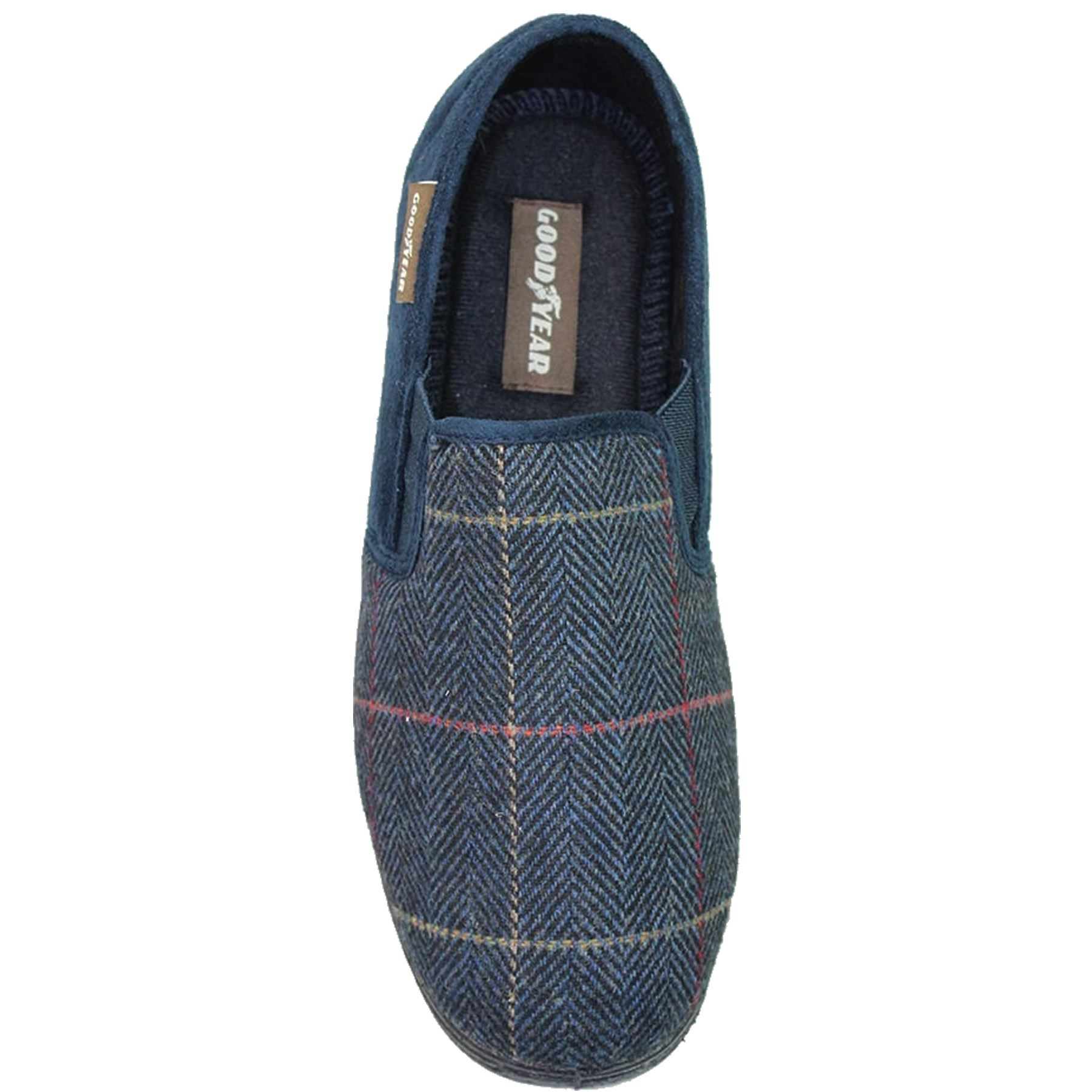 KMG122 Ribble Men/'s Slip On Faux Suede Fleece Lined Memory Foam Slippers