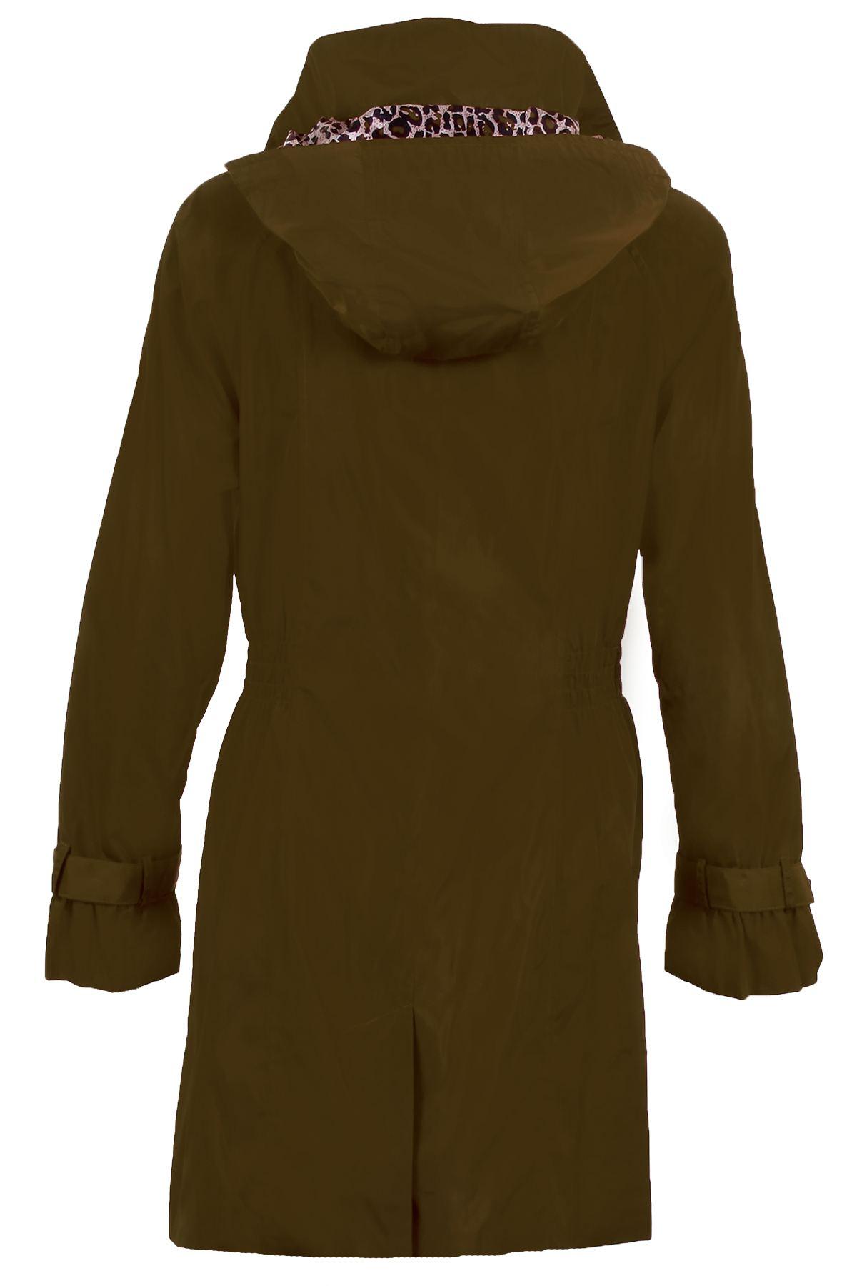 color da Giacca Casual impermeabile donna con da cappuccio con cachi Giacca donna cappuccio staccabile foderato gdOnTZ