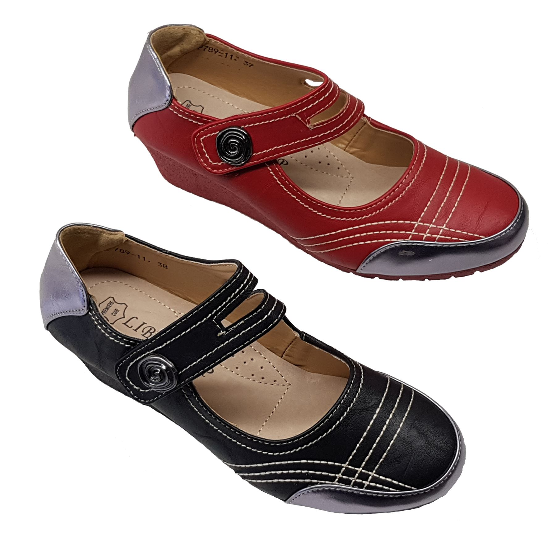 Ladies Padded Insole Stitch Comfy Strap Low Wedge Heel Faux Leather Tendencies Sandals Footbed 2 Brown 42 Shoes