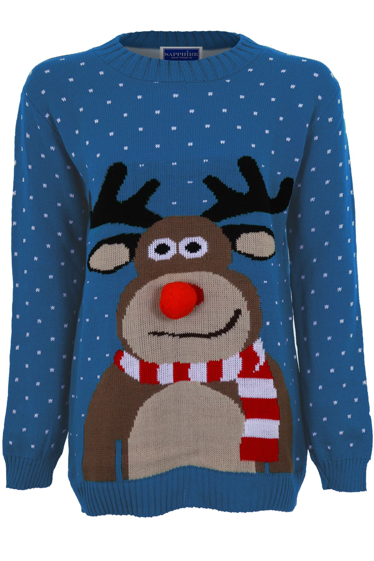 Olaf Christmas Jumper Knitting Pattern : Womens Santa Reindeer Snow Minion Olaf Ladies Knitted Christmas Jumper T...