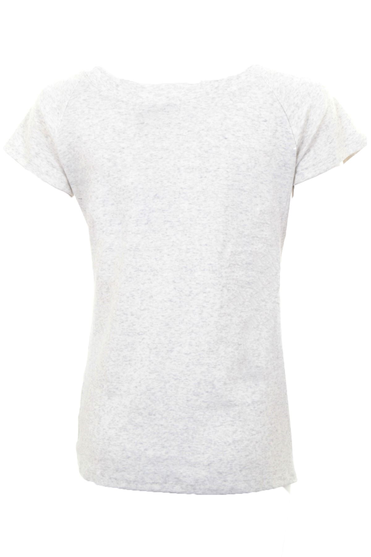 7105c704f Womens Plain Heather Short Sleeve Diamante Pearl Graphic Top T-Shirt ...